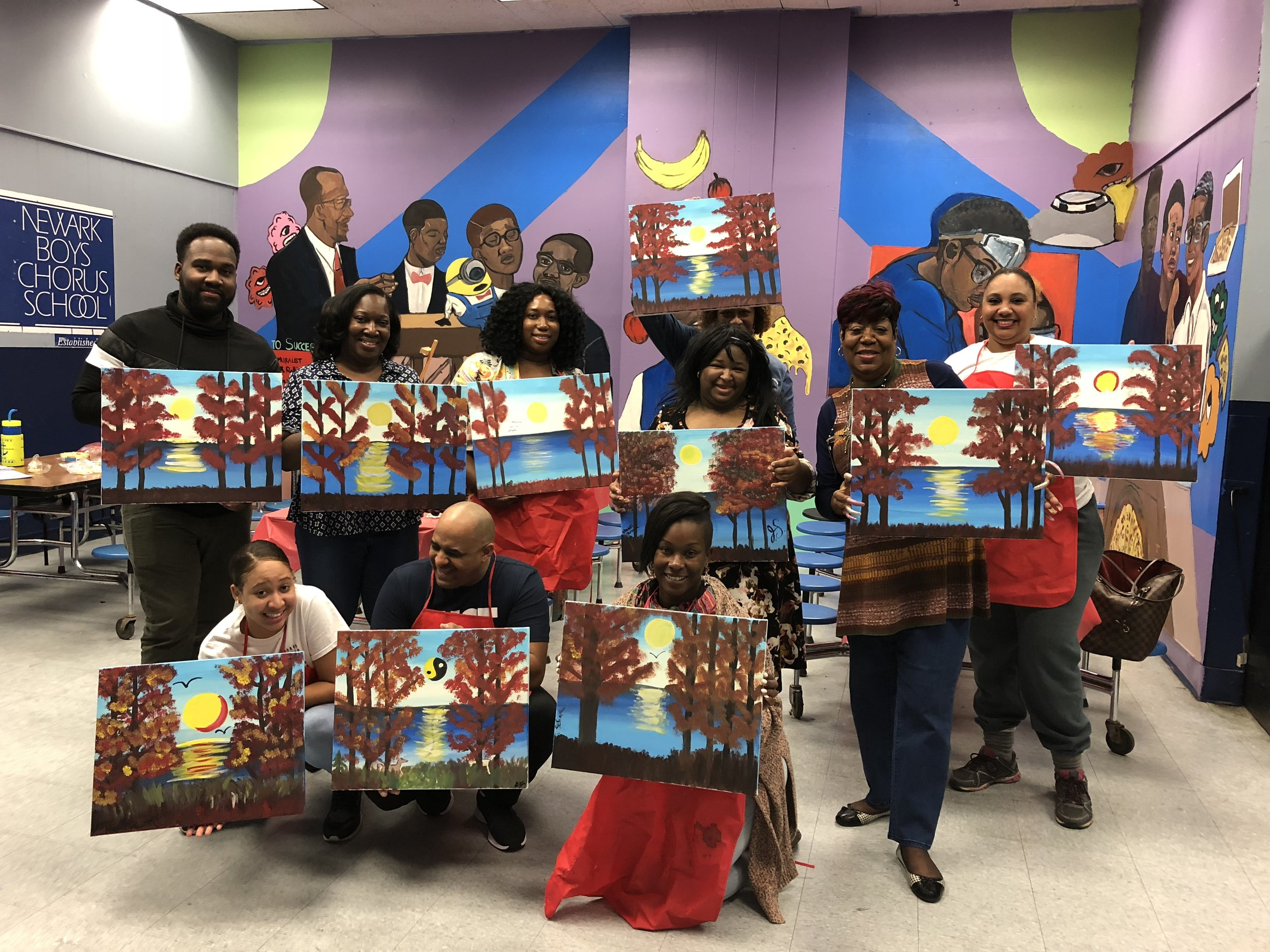 PAC Paint & Sip Fundraiser - Thanks to our NBCS Science Teacher and resident artist Krystina Natal, parents had a wonderful time at the PAC's first fundraiser event of the year.