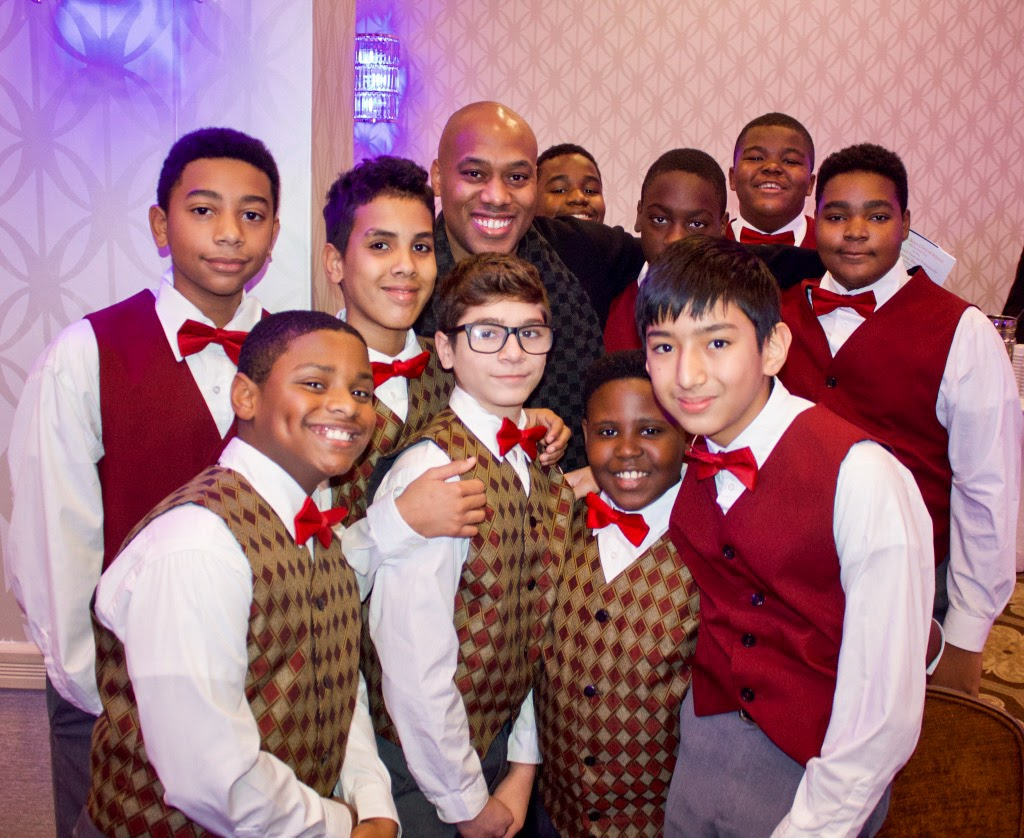 Songwriters' Workshop maestro, Mario Winans, with some of his songwriters.