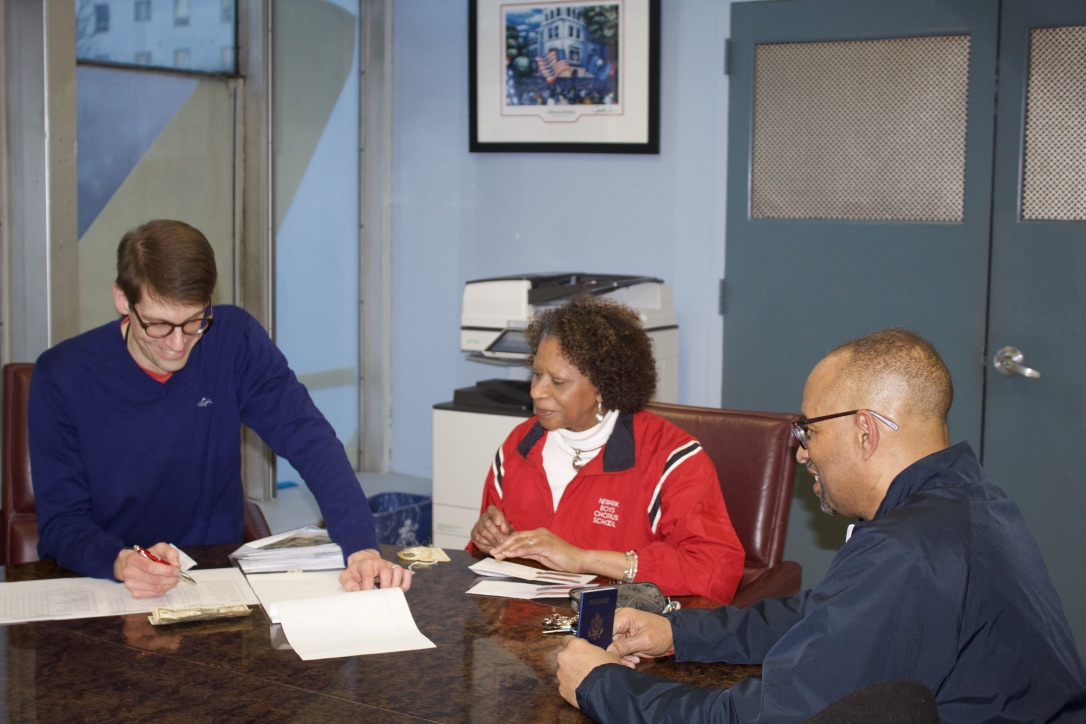 - Brian, Brenda and Don review the final preparations prior to leaving NBCS.