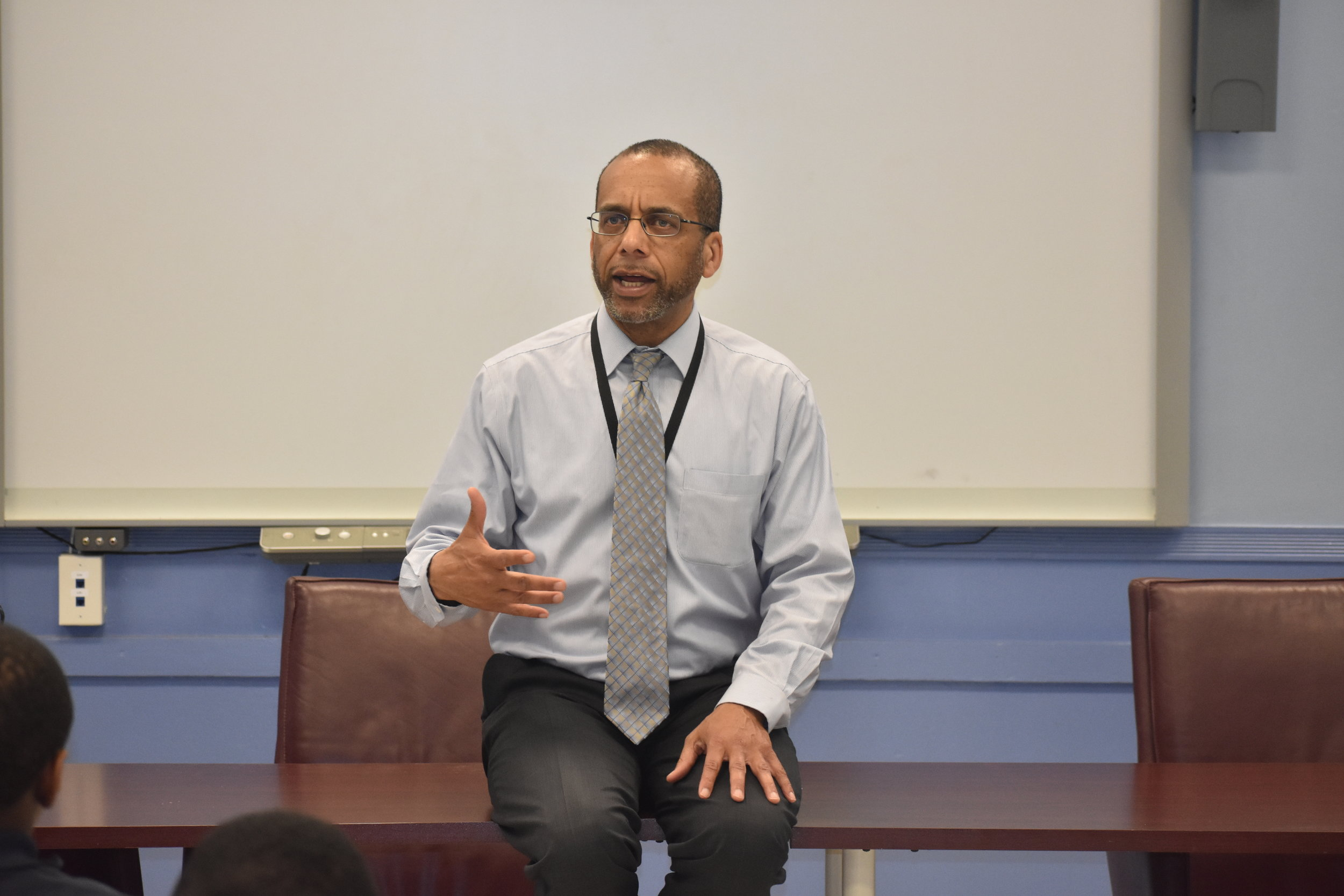 """- """"Say Something that you want to be but be 20 times better than that,"""" stated Rick Thigpen, as he discussed possible career pathways."""