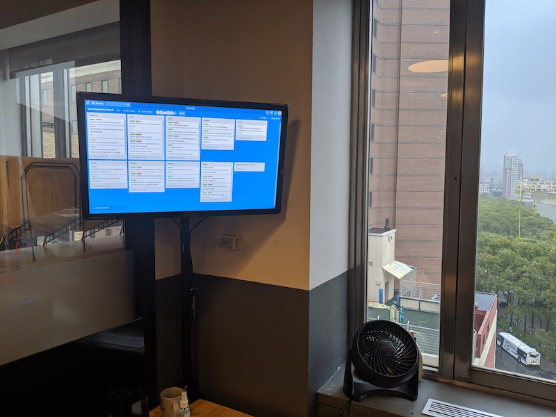 Our Engineering dashboard. We need a bigger screen.