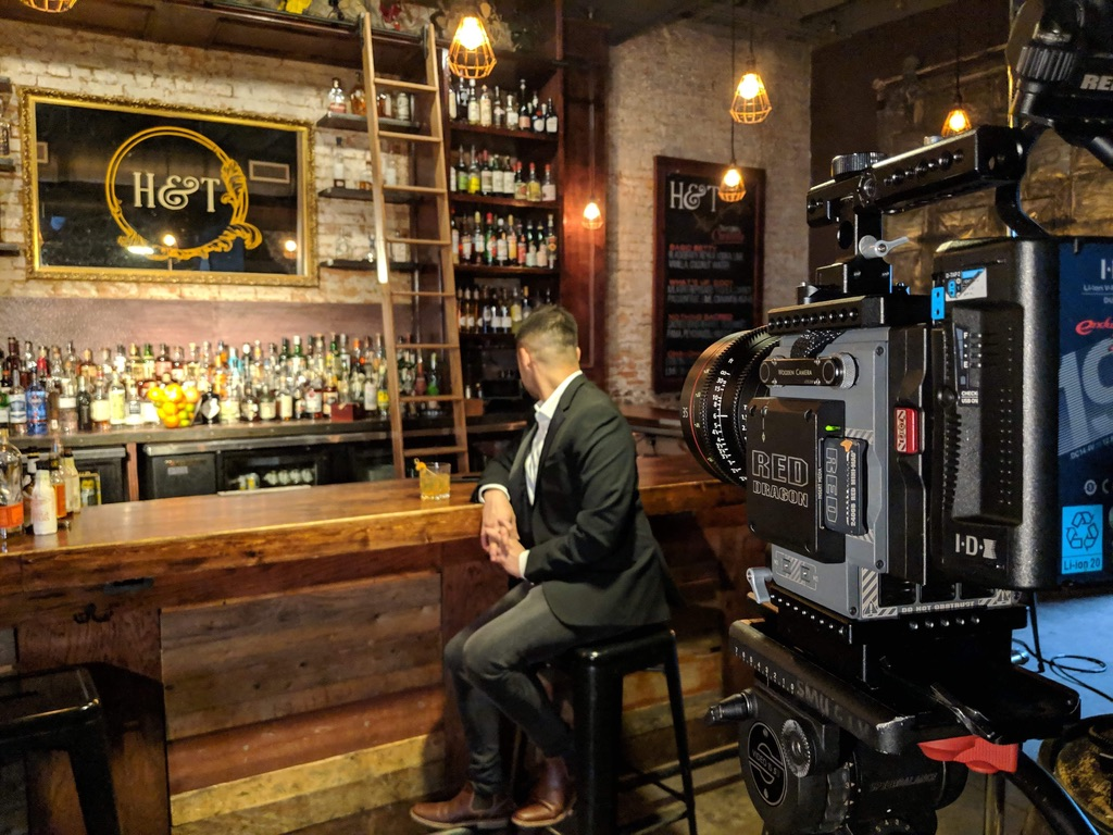 On set during one of our commercial video shoots. -