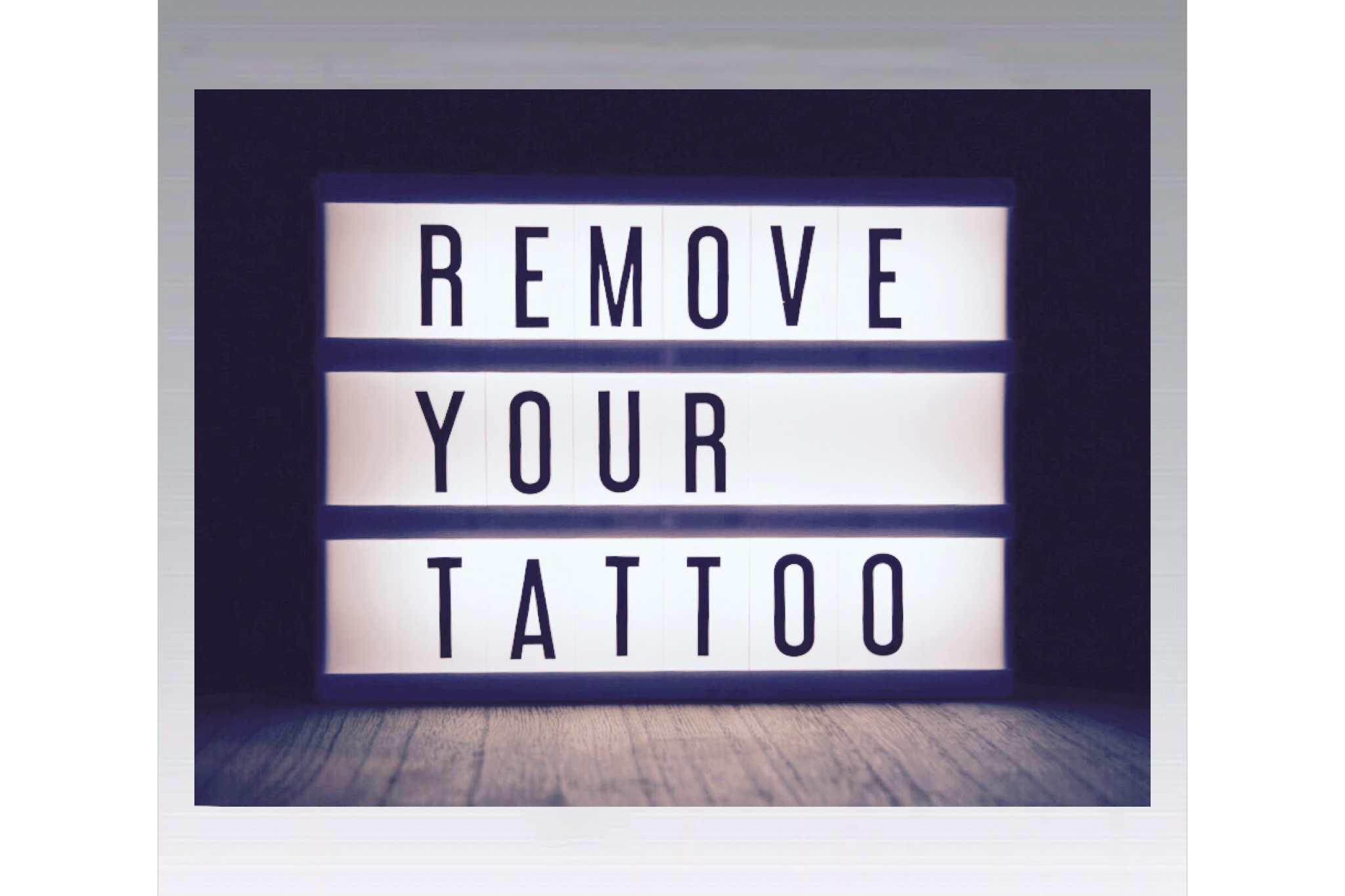 saline tattoo removal