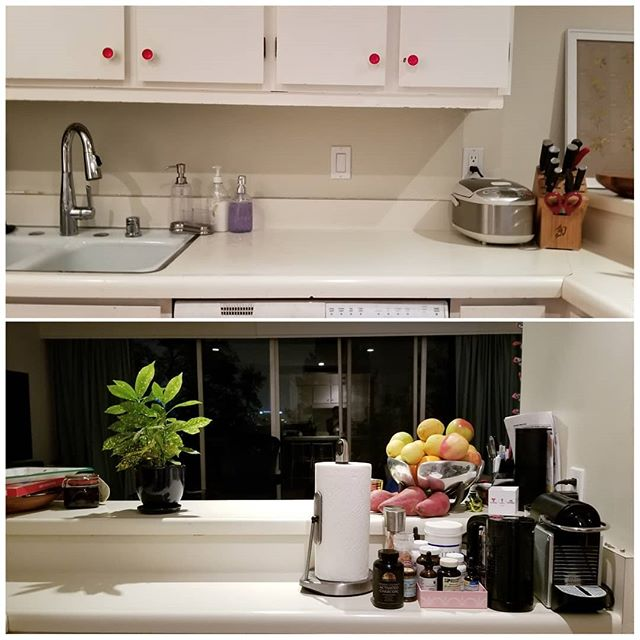 Meals are a time of rest, renewal, & relaxation. They allow us to find nourishment and fellowship. Give the area where food is stored and prepared the space and respect it deserves. This client's newly tidied #kitchen sparks. So. Much. Joy. Amazing work after a marathon session. Swipe for the before, and considering hiring a #certifiedkonmariconsultant today to help #sparkjoy in your home! First consult is free and discounts are available on my website. • • • • • #tidyingup #losangelesorganizer #konmari #mariekondo #lifechangingmagicoftidyingup #supersoulsunday #tidyingupwithmariekondo