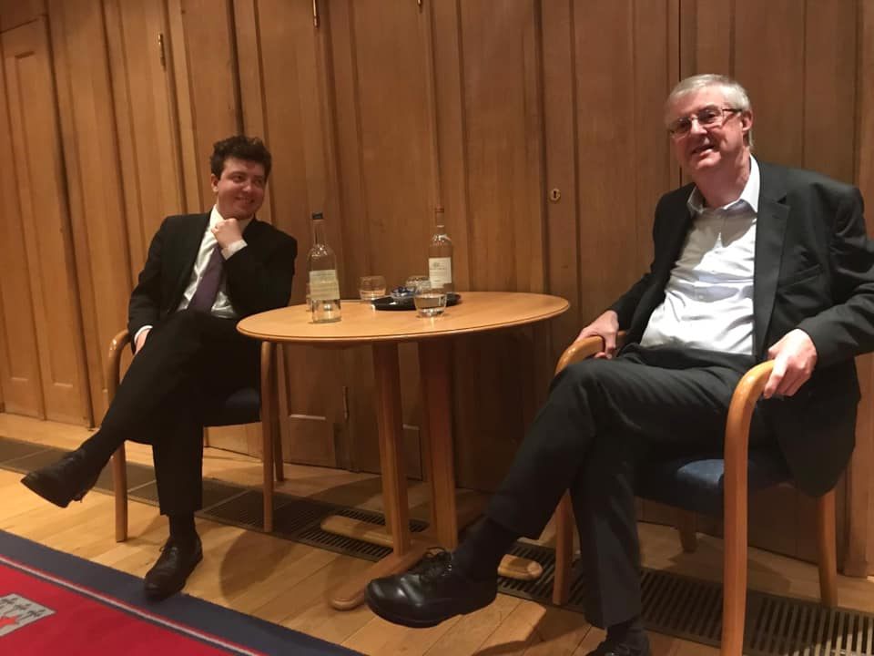 My last interview in Oxford was with the First Minister of Wales, Mark Drakeford. I asked him how he felt that he was in the Margaret Thatcher building in the college…
