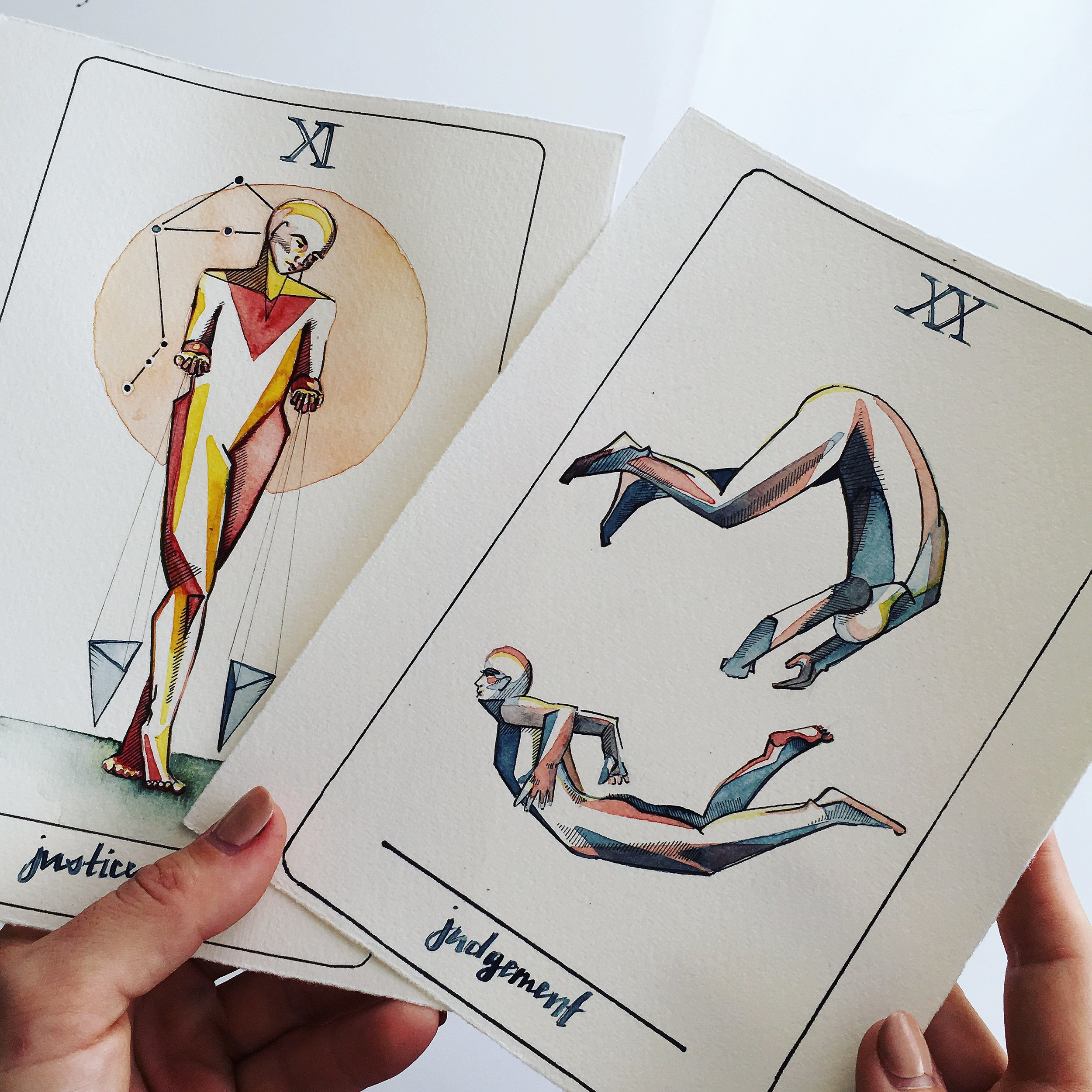 justice, judgement, vindur tarot deck by leah pantea