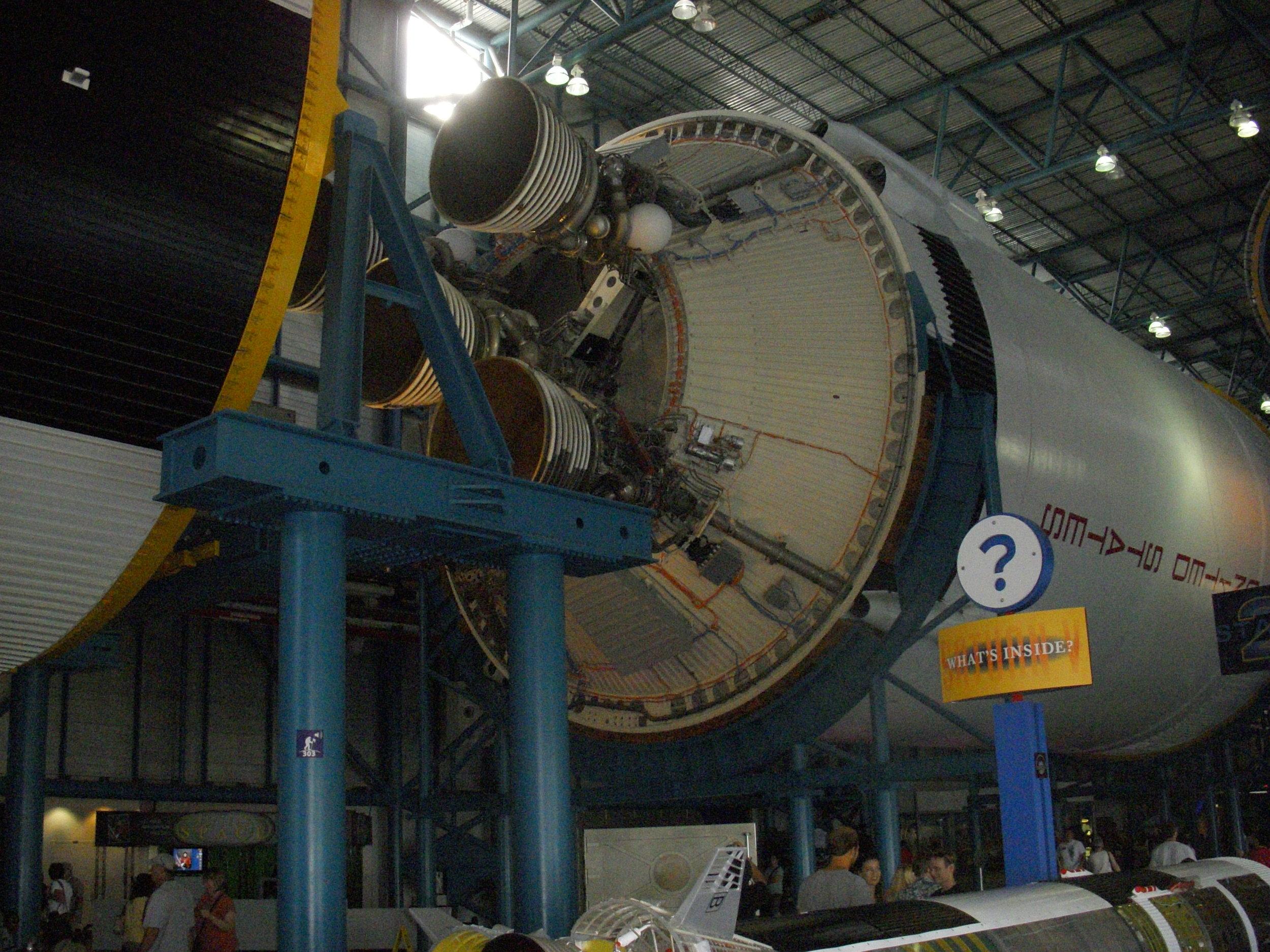 Large Rocket Inside Largest Rocket.
