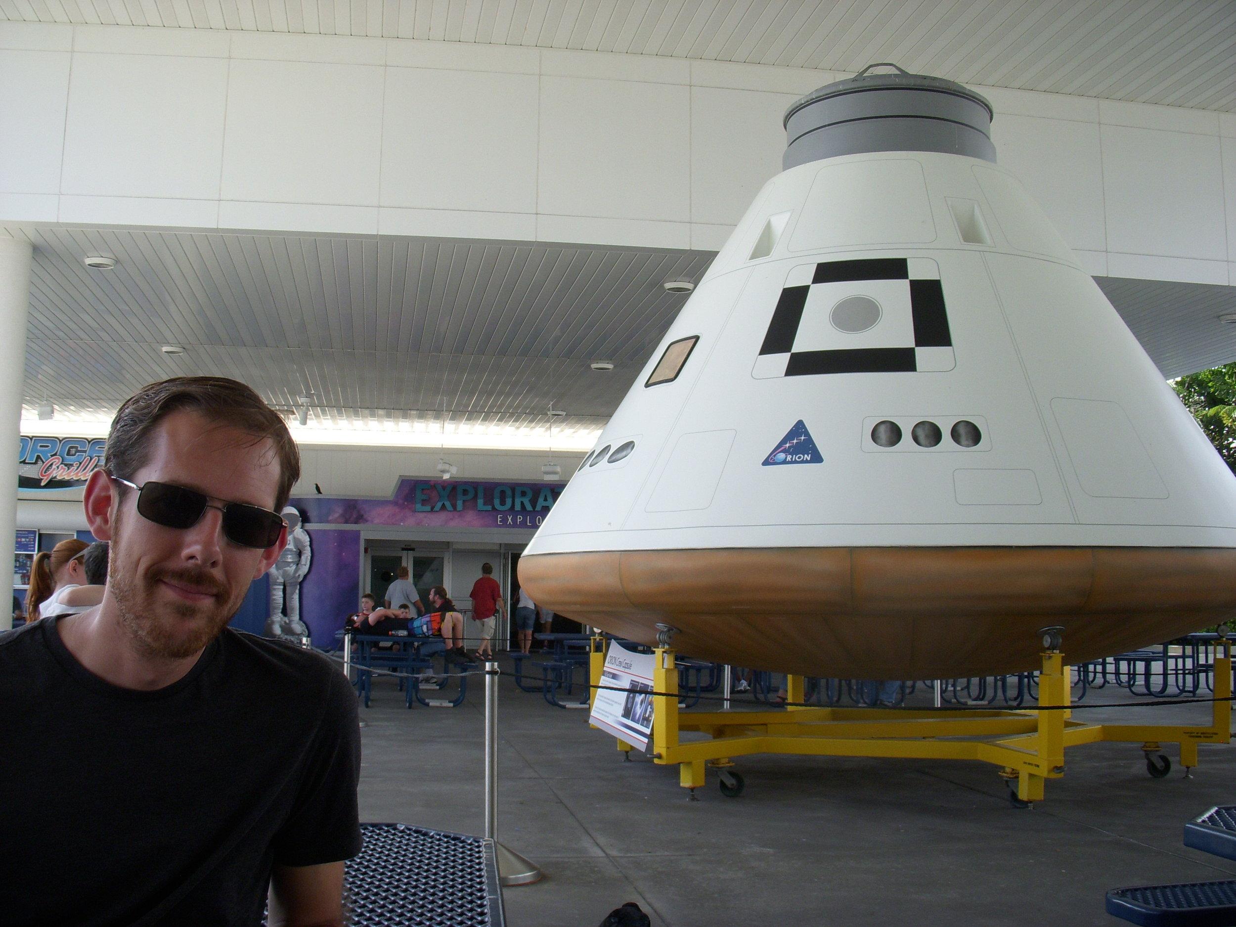 Fake Apollo capsule.