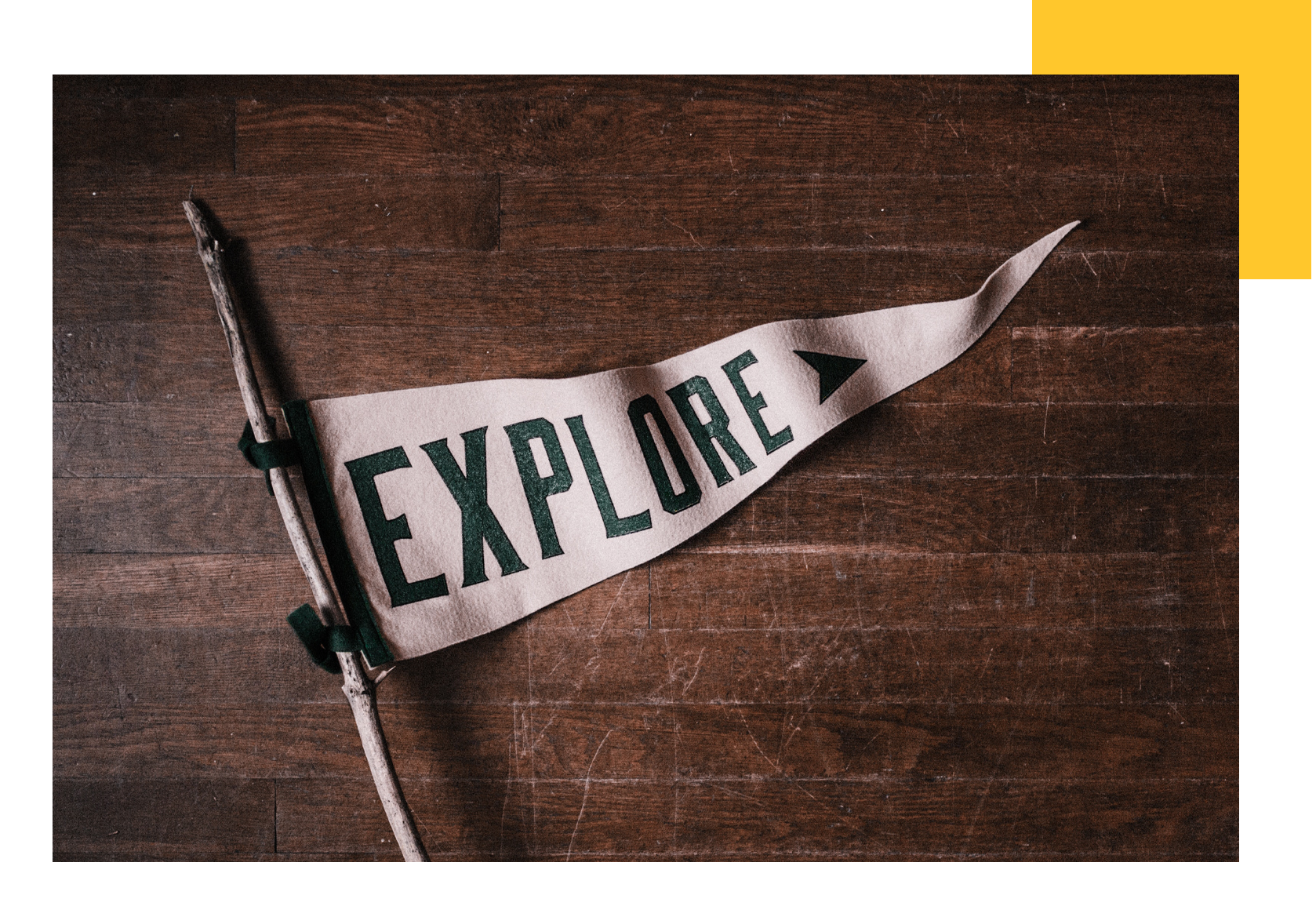 An explore flag to show we're proud watchmakers who love  a good midwestern adventure.