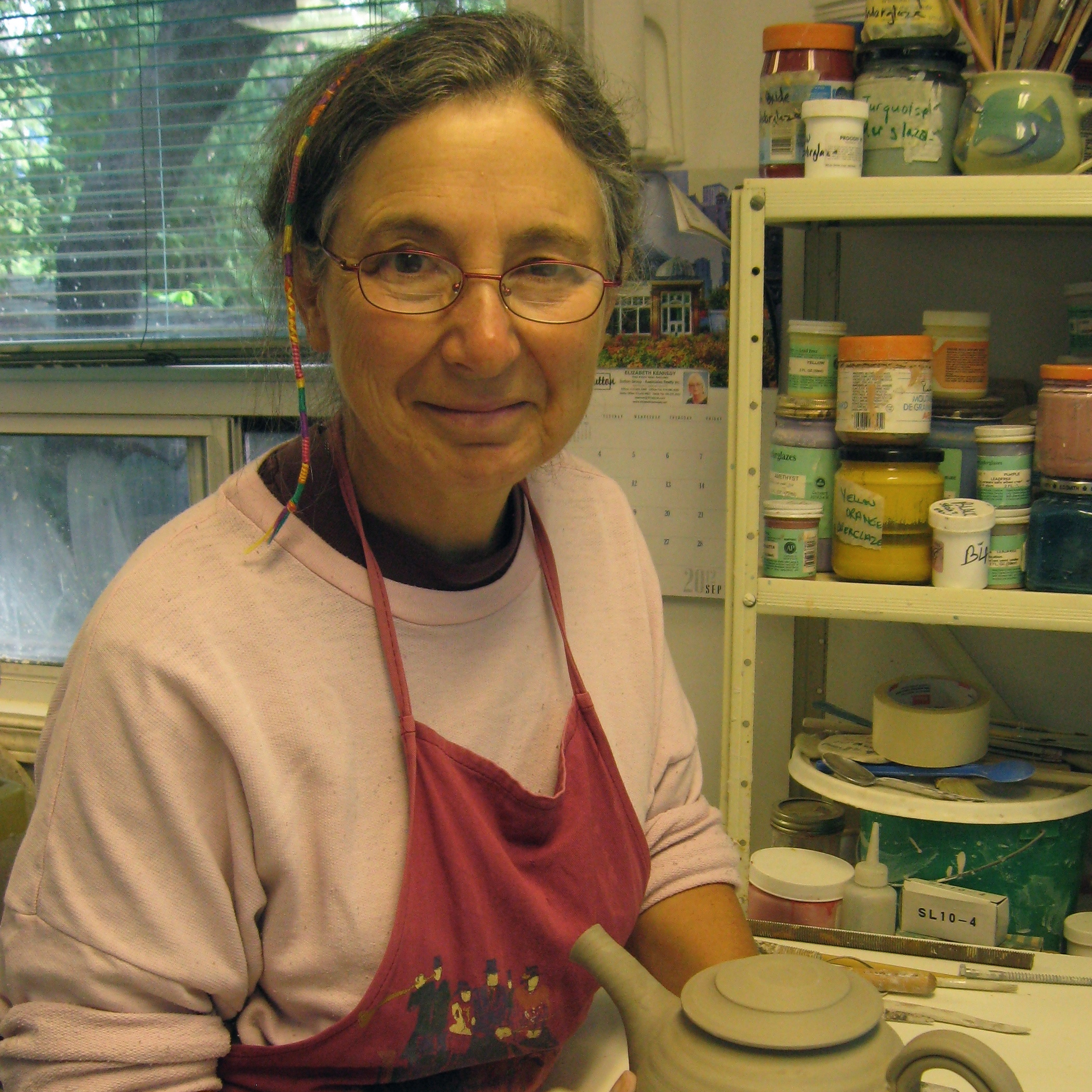 Nancy Solway - Nancy Solway has been making and exhibiting claywork for over 30 years. She is known for her fine porcelain functional ware and her award-winning work in raku. She was co-founder of Clay Design in Toronto, a member of the board of Directors of the Ontario Crafts Council and is one of the five Canadians represented in