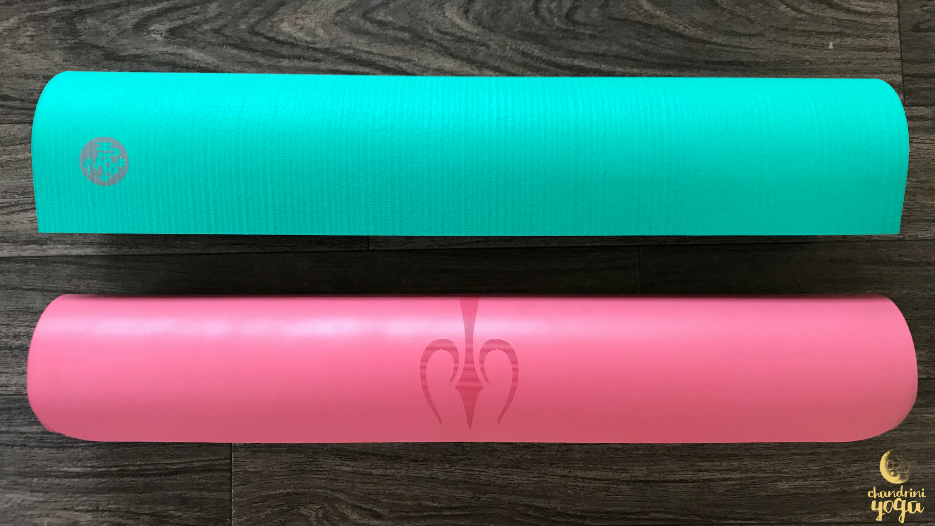 (Manduka PRO Oceana [limited edition color] , and Liforme Yoga Mat in Pink)