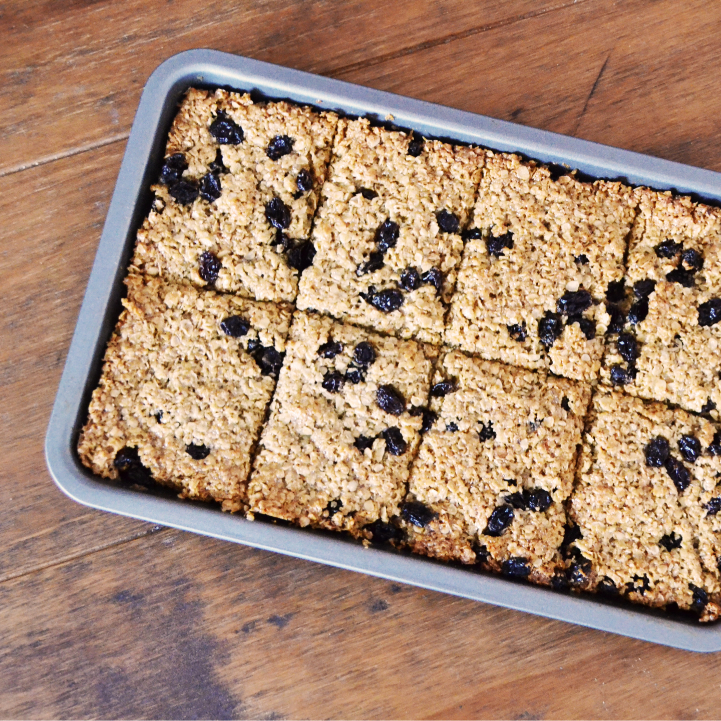 honey and raisin flapjack recipe