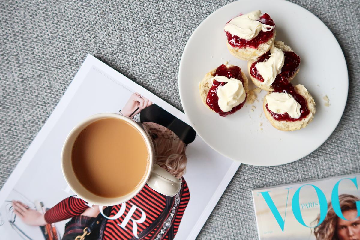 simple english scones recipe with raspberry jam and clotted cream.jpg