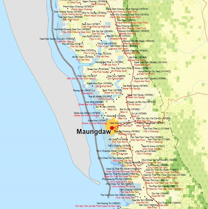 A small sample of the total number of Rohingya villages destroyed by government forces in Myanmar, demonstrating the implausibility of Rohingya repatriation. From the    Myanmar Information Management Unit   .