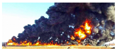 Figure 3: Russian Air Strike Destroys IS Oil Trucks, Along with a Civilian Family in Their Car