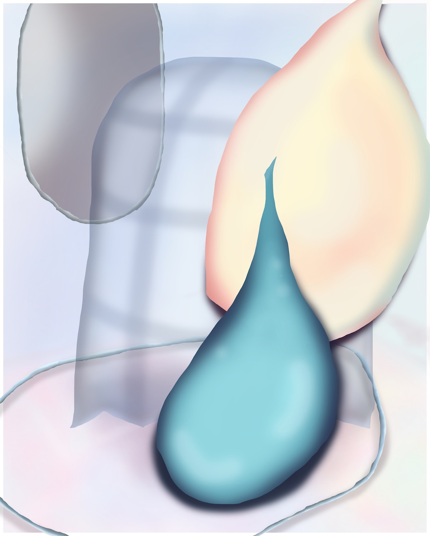 "Inner, Circular. C-print mounted on dibond. 16 x 20"". 2017."
