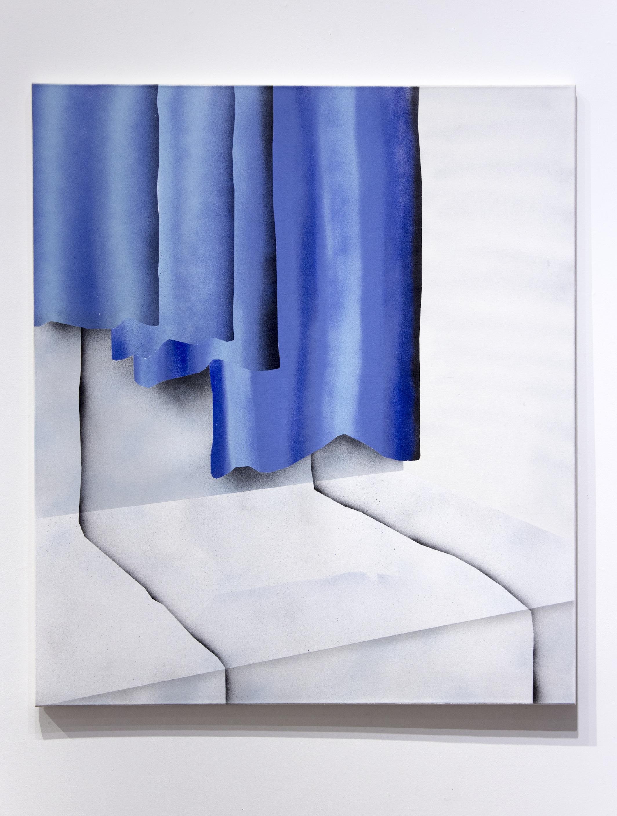 "Corner. Acrylic on canvas. 42 x 48"". 2017."