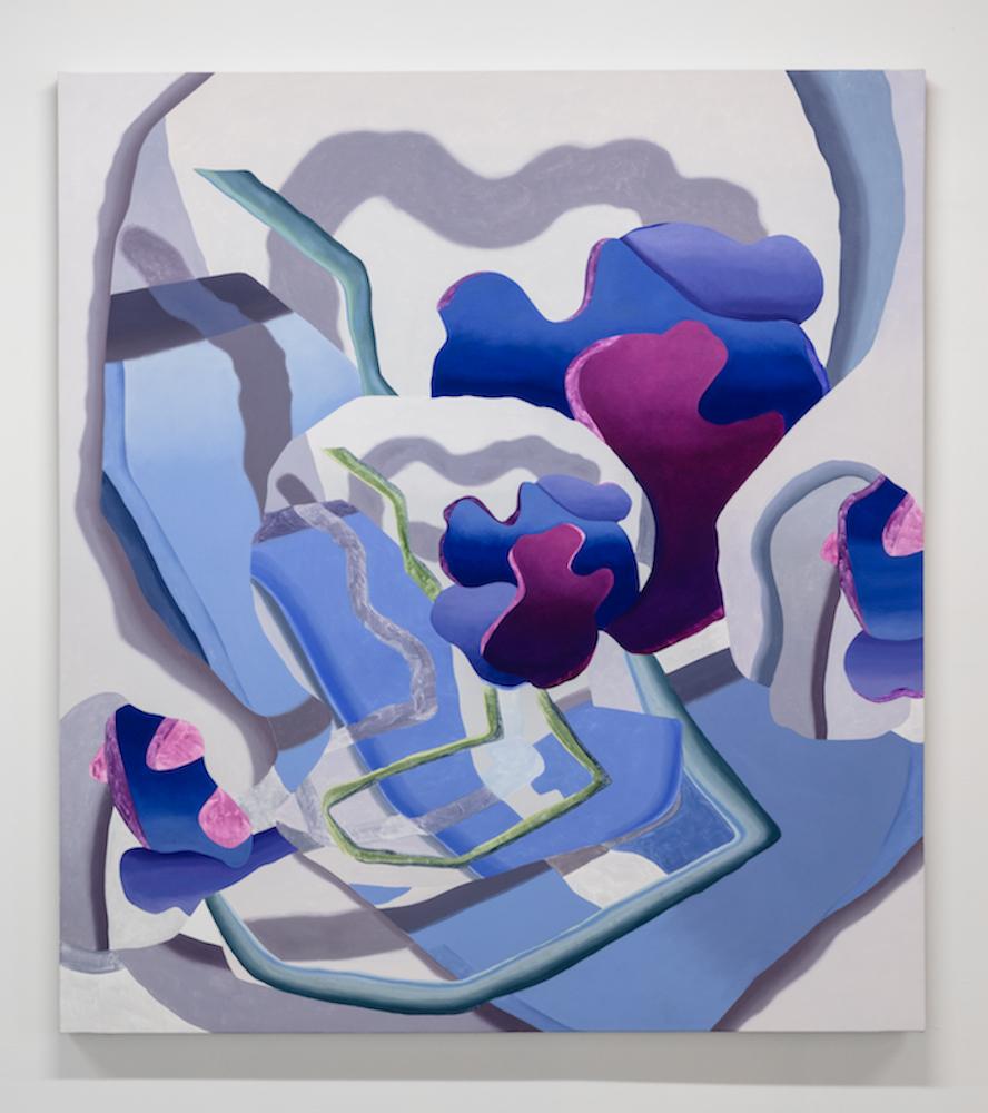 """Hydrangea Yeah. Oil on canvas. 54 x 60"""". 2019."""