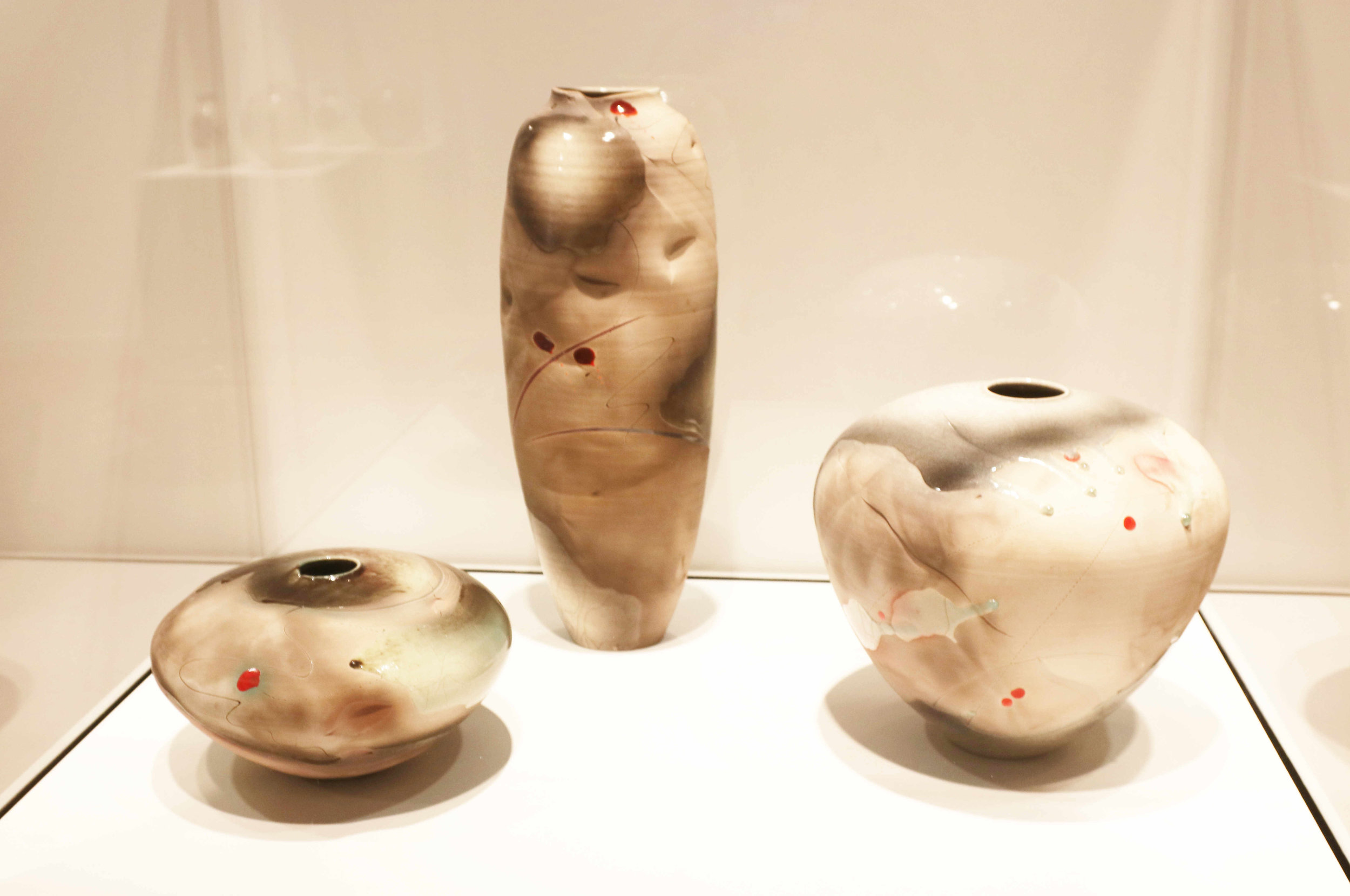 Michael Sherrill, Potter's Tongue, 1987. Raku white stoneware with glaze, thrown and altered.