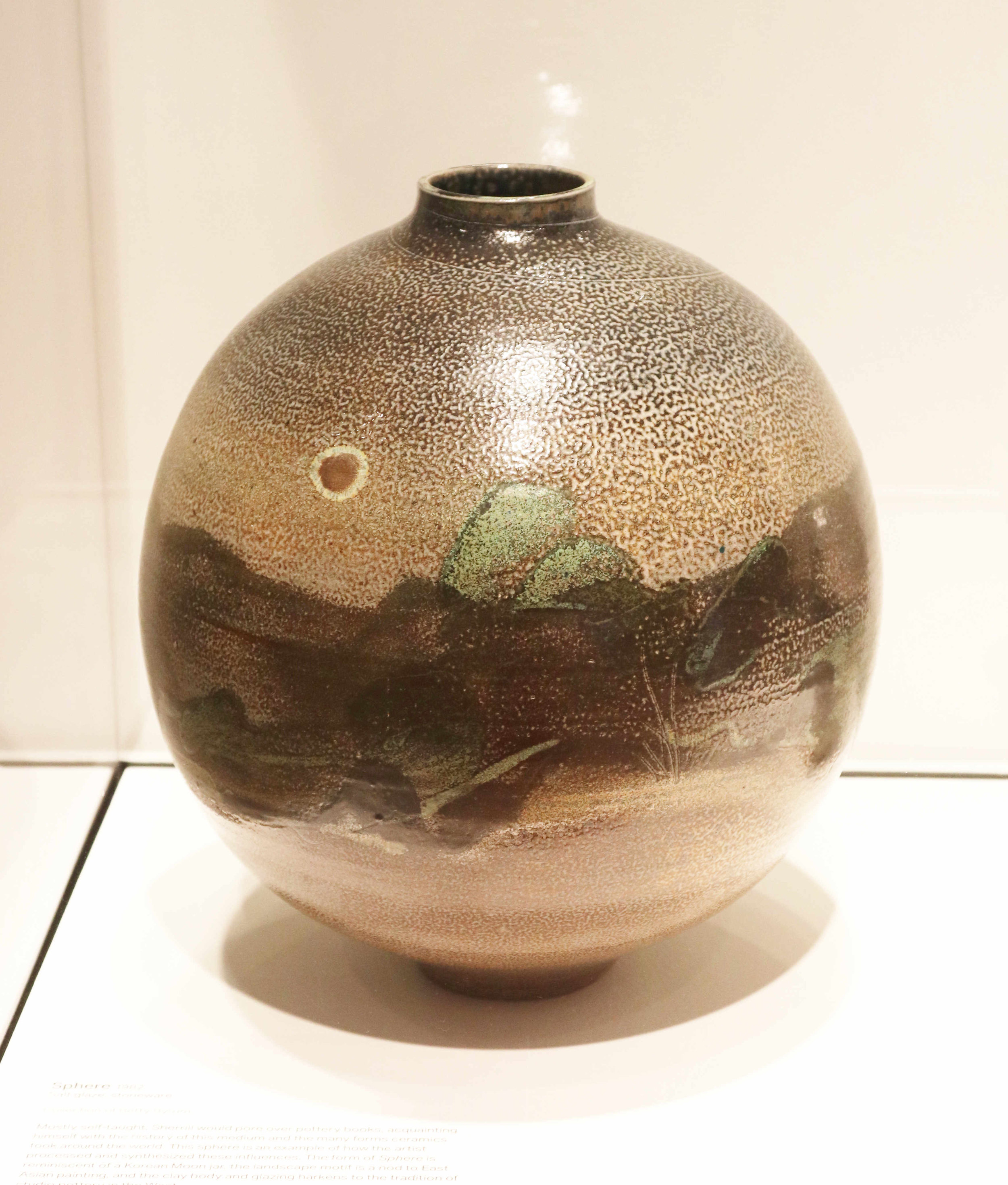 Michael Sherrill, Sphere, 1982. Salt glaze, stoneware.