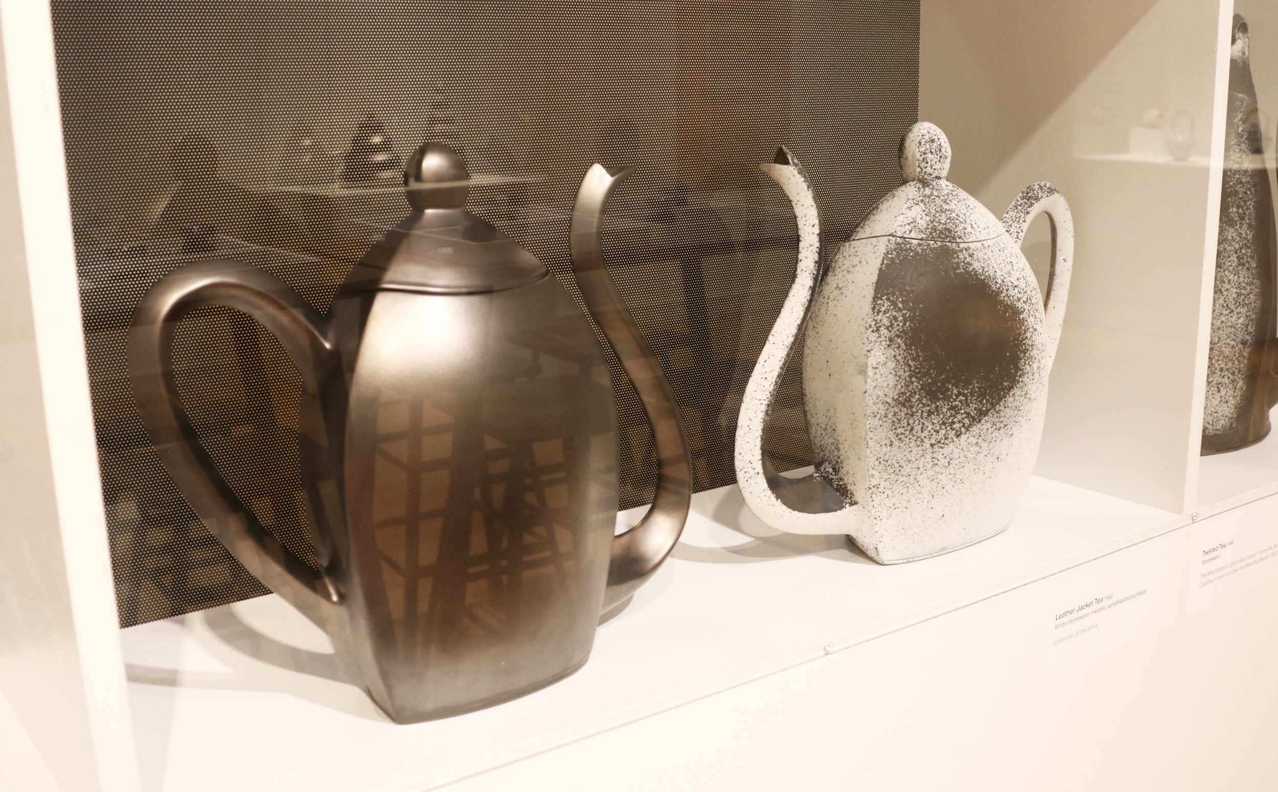Michael Sherrill Two Sides of Tea, 1992. Ceramic.