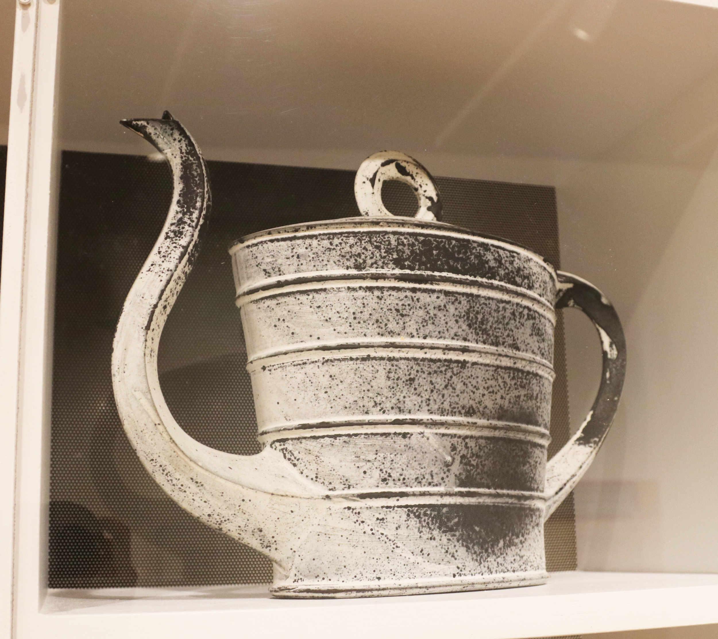 Michael Sherrill, Burial Tea, 1991. White Stoneware, barium glaze.