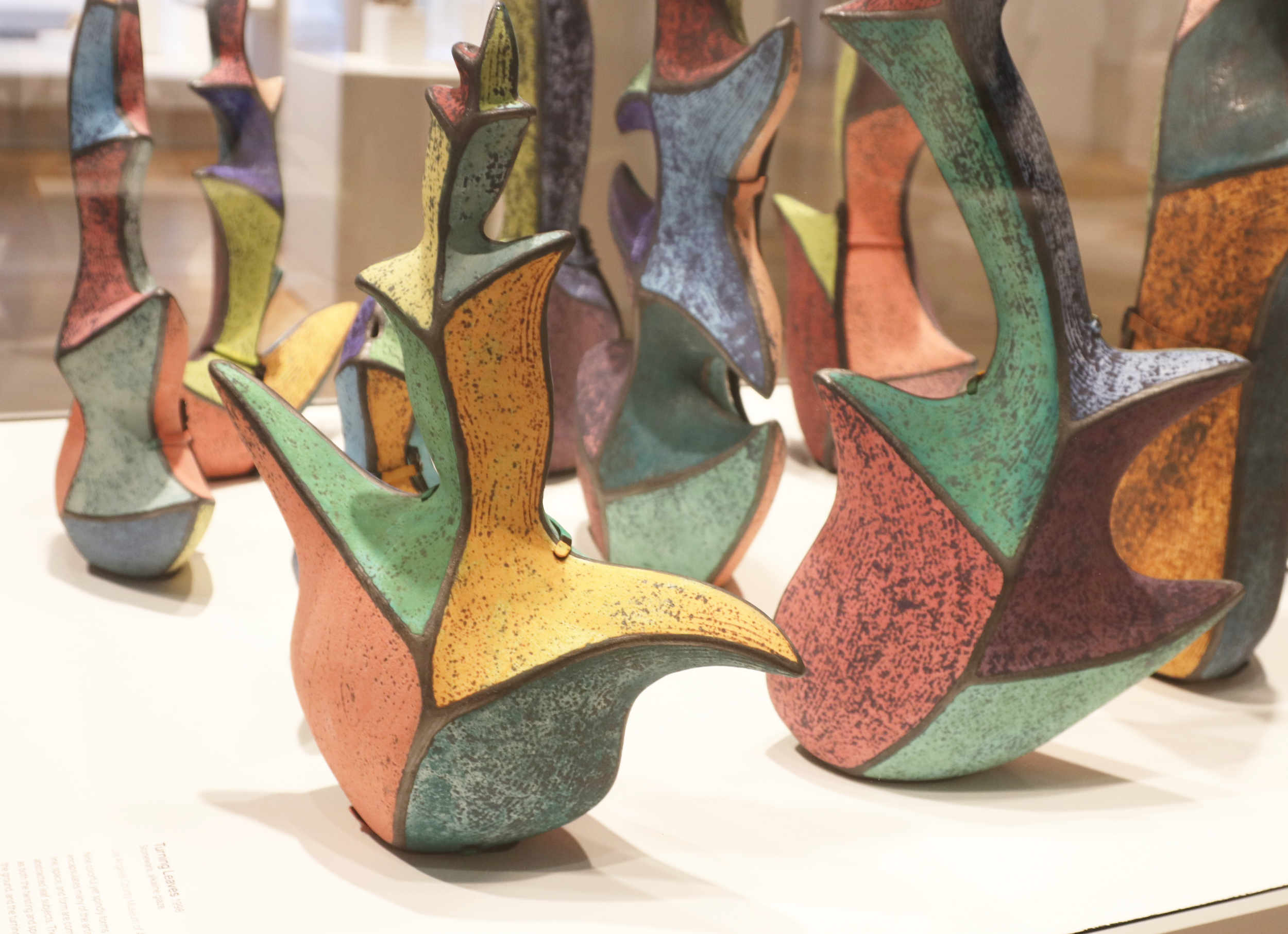 Michael Sherrill Turning Leaves, 1998 (detail). Stoneware, alkaline glaze.