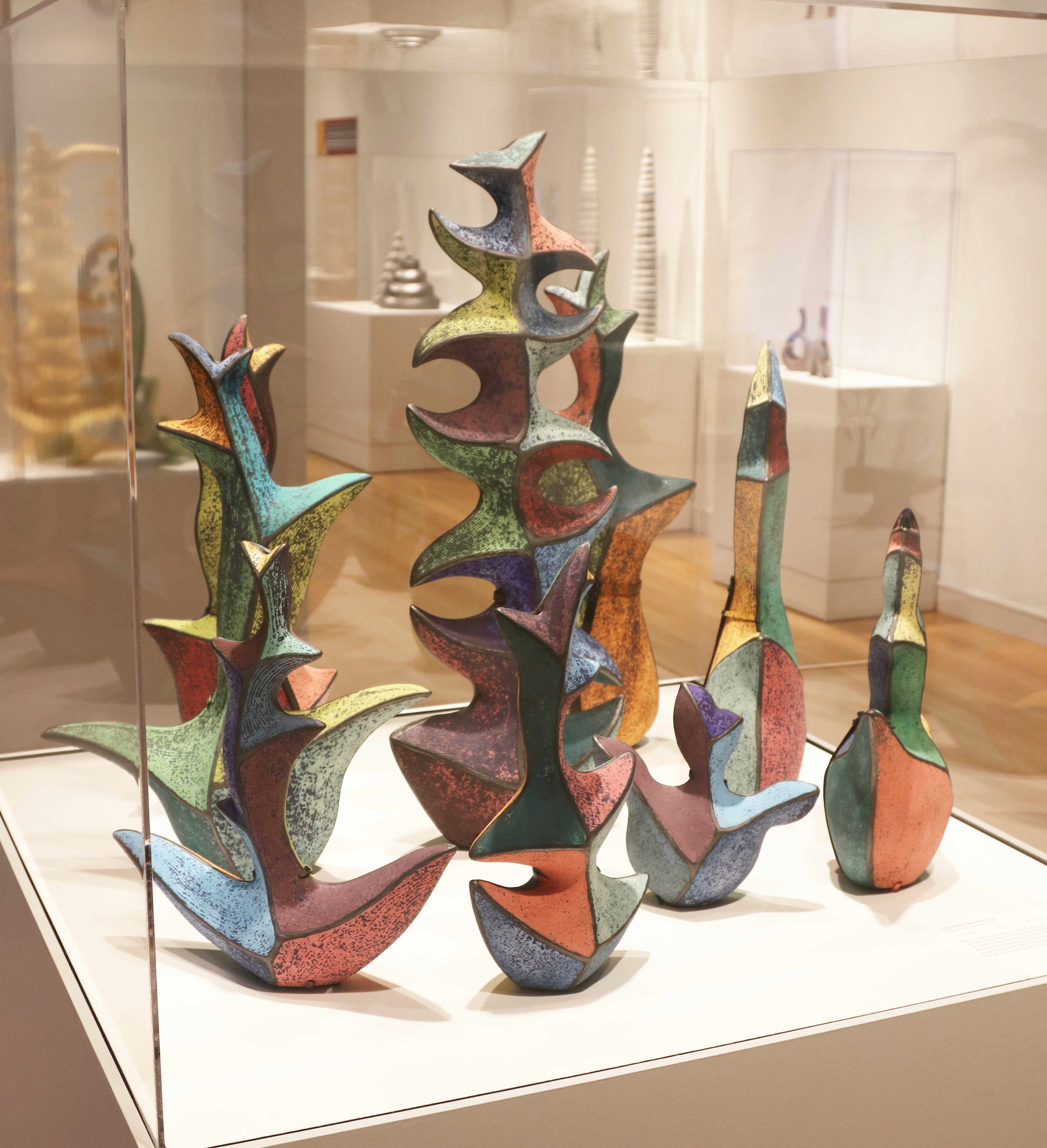 Michael Sherrill Turning Leaves, 1998. Stoneware, alkaline glaze.