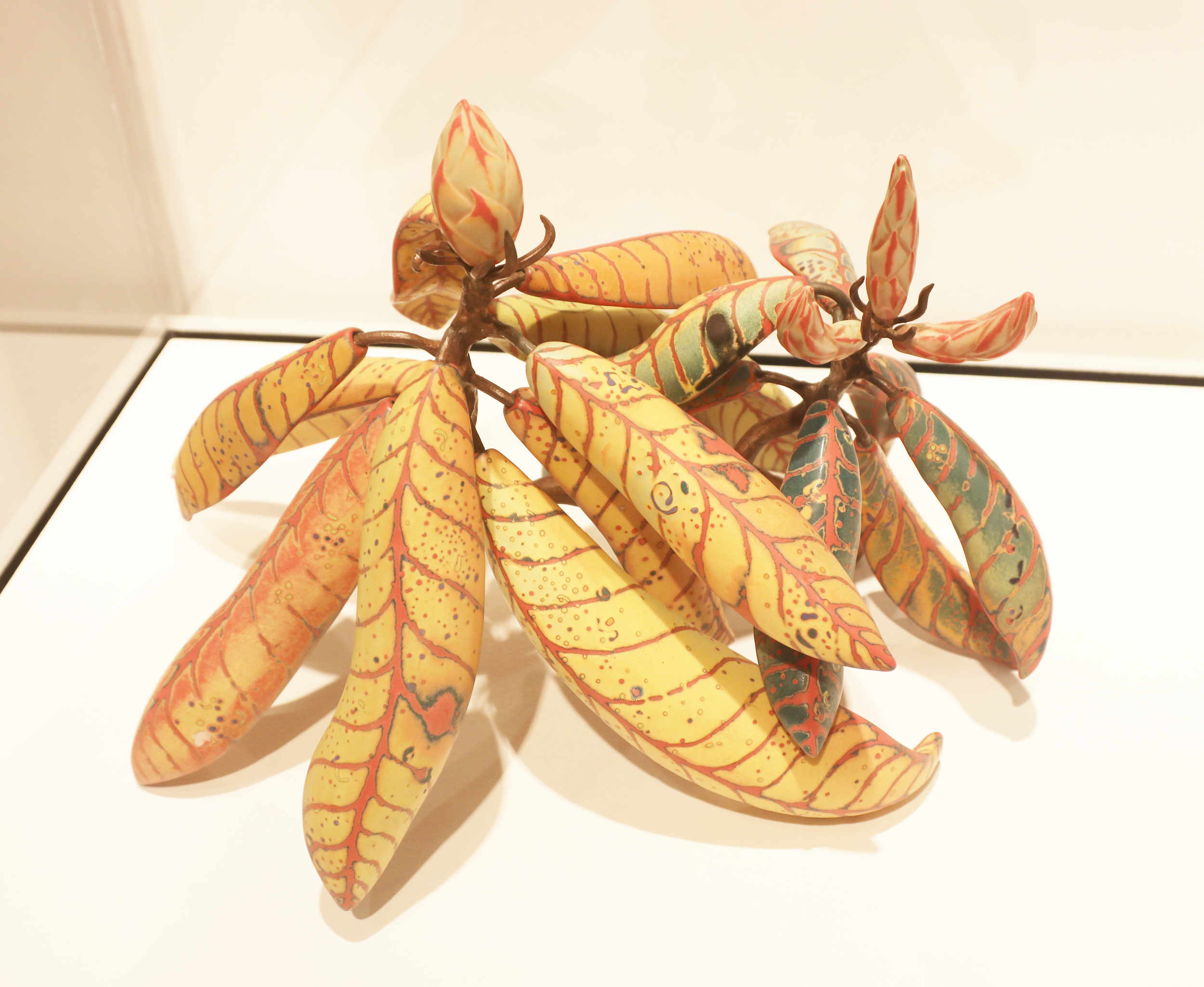 Michael Sherrill, Yellowstone Rhododendron, 2000. Porcelain, glaze, steel.