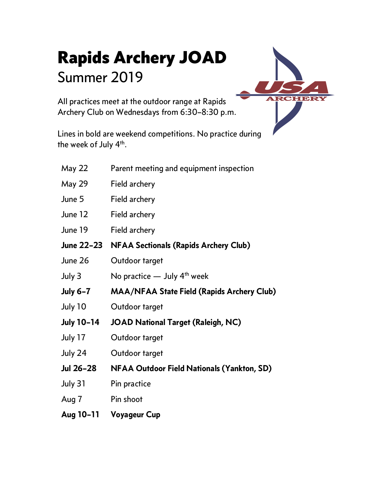 2019 Summer JOAD schedule.png