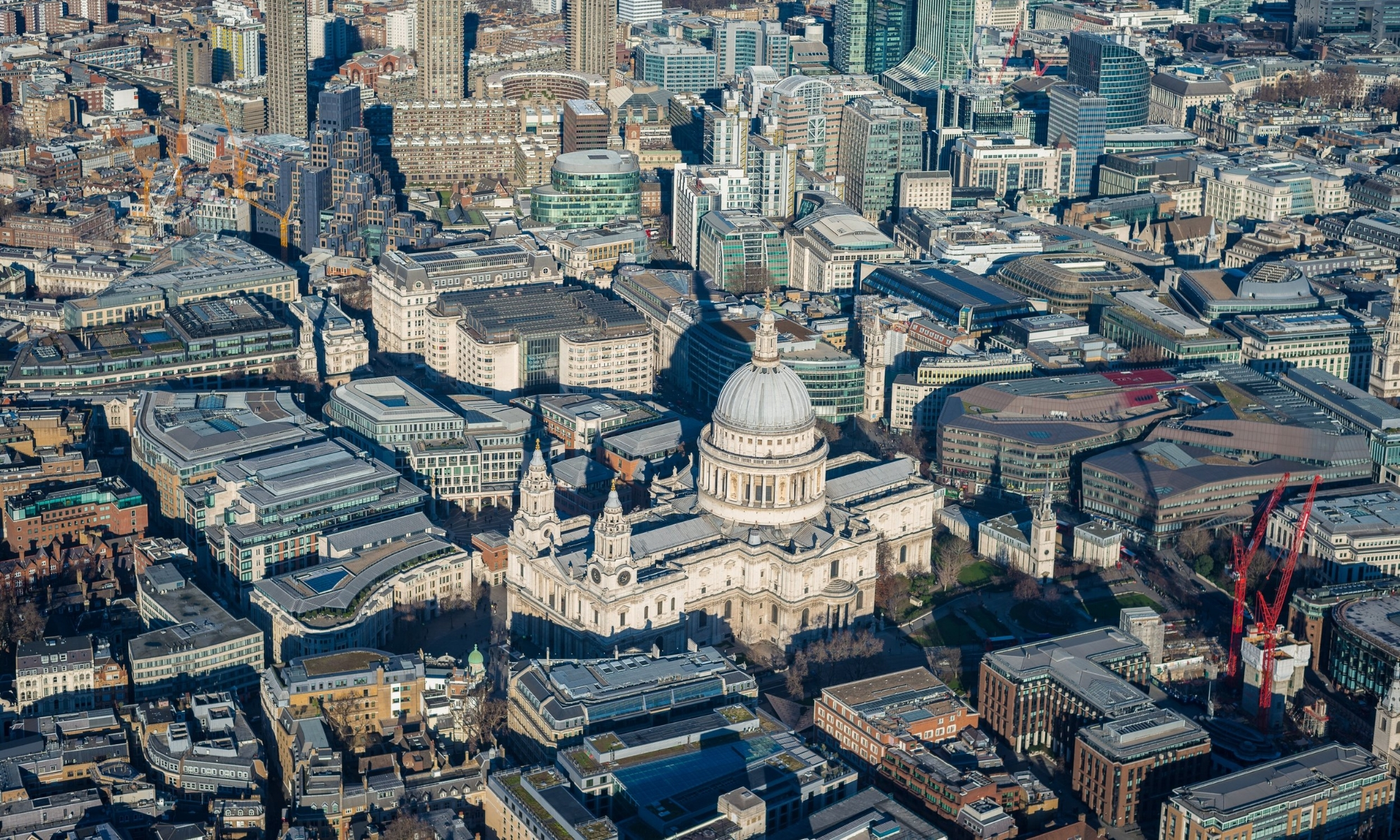 St Pauls Aerial View from Helicopter