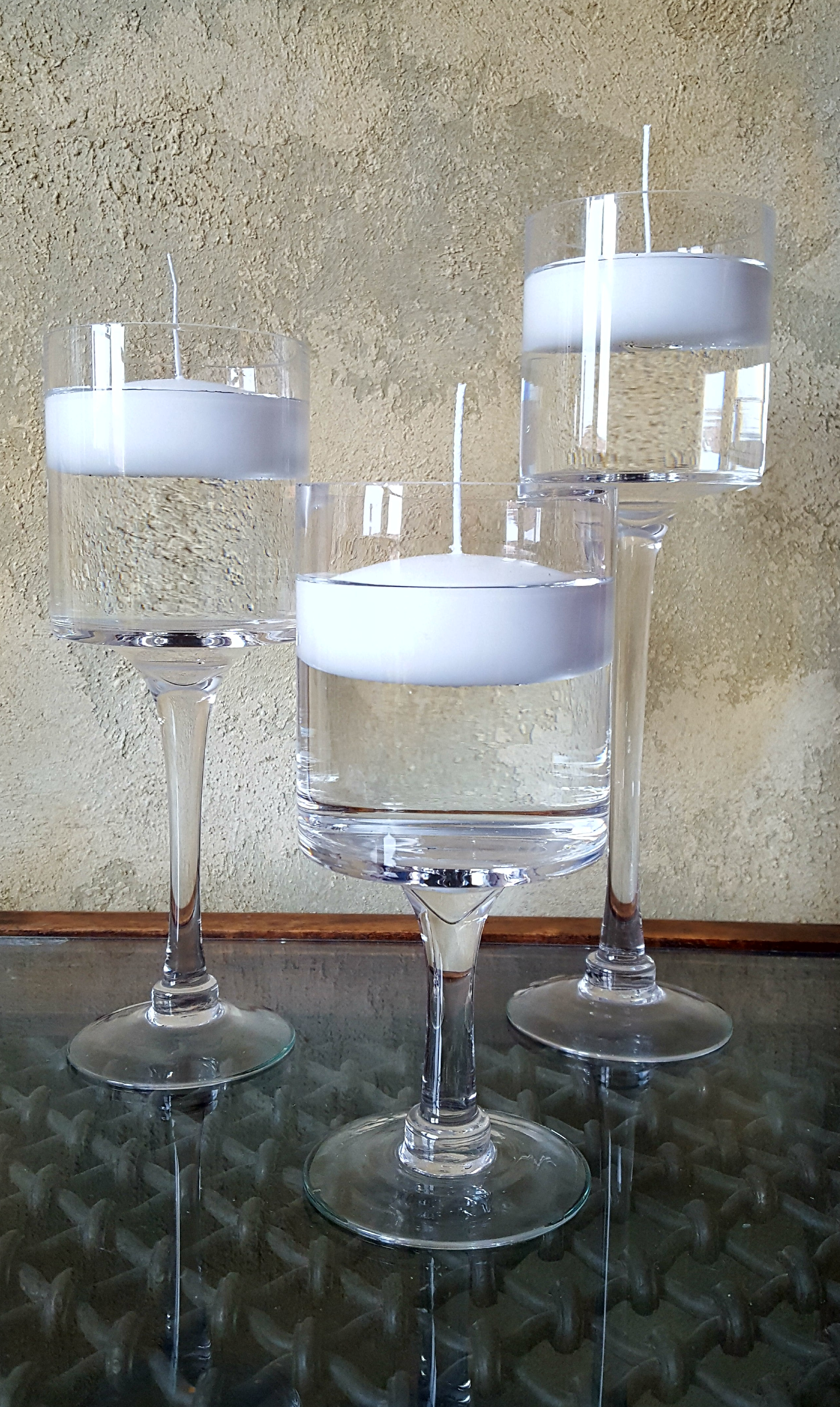 Lon Gstem Floating Candle Holders All In Bloom Designs