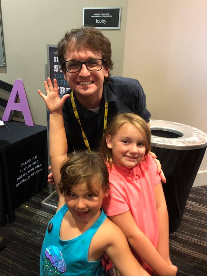 My nieces at their first film festival (I think they enjoyed the movie?)