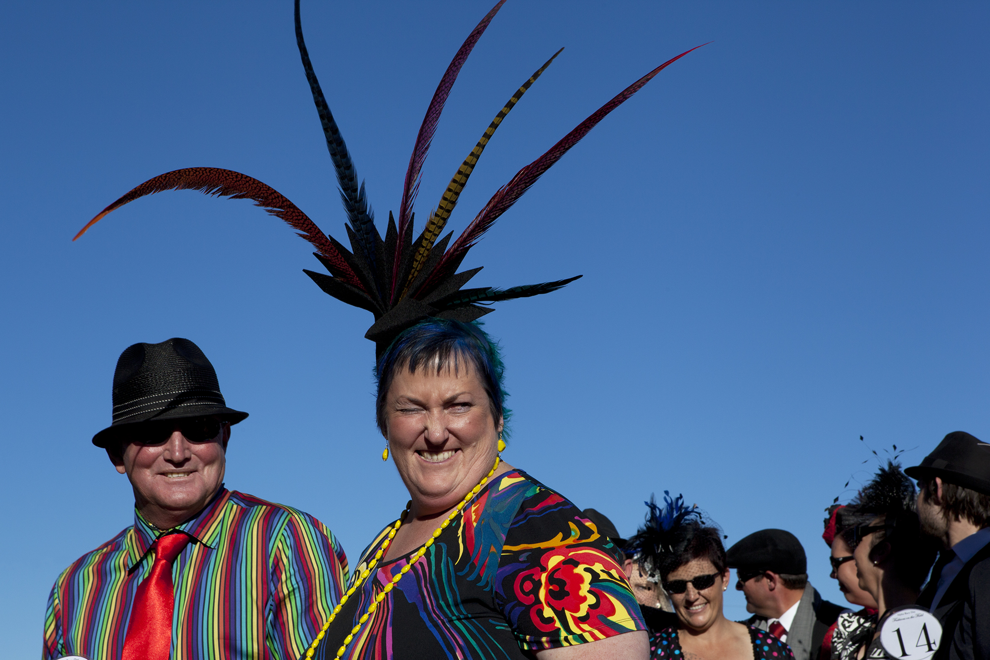 Fashions on the Field at the Alpha races in outback Queensland.