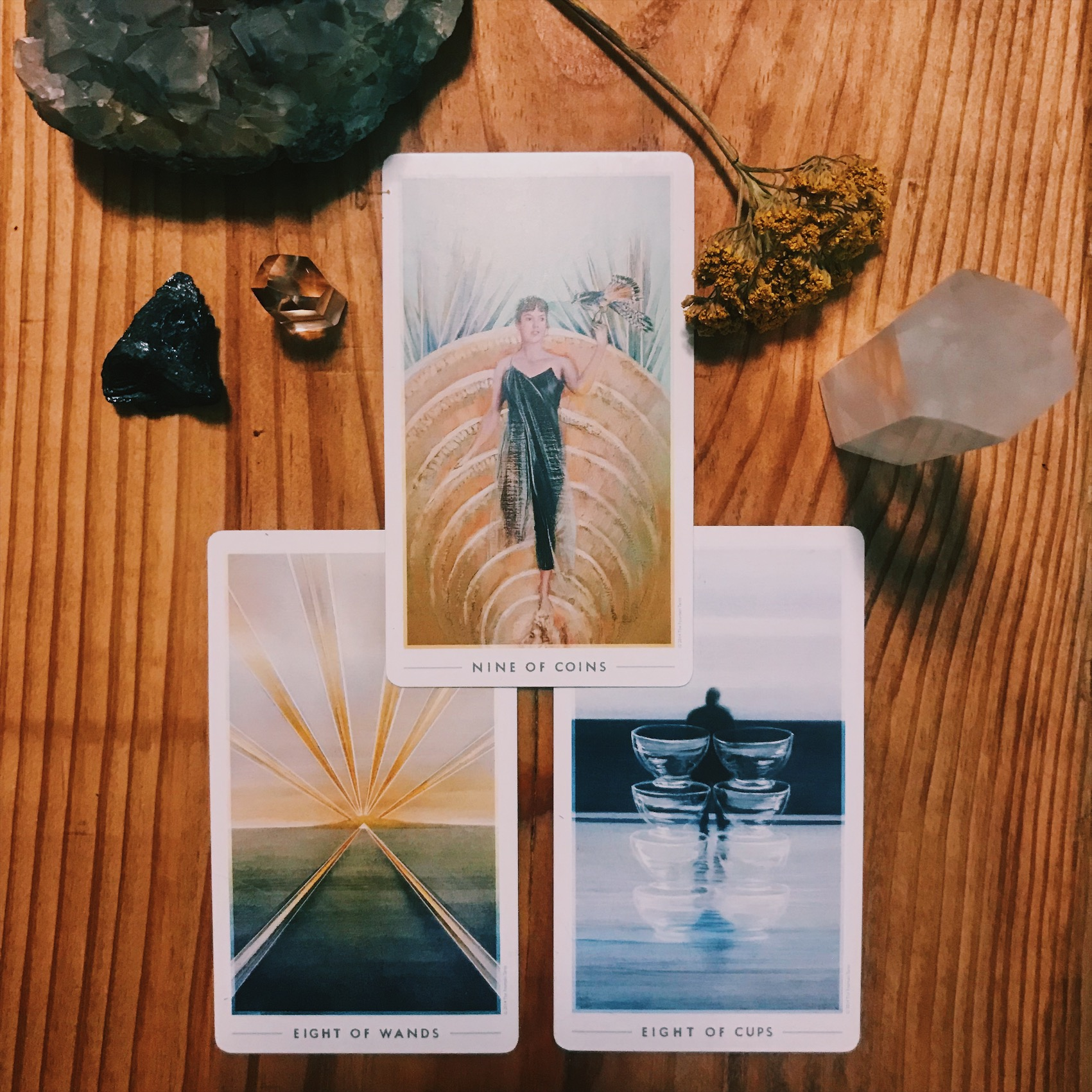 my reading for the full moon in Leo with the bottom cards as what i'm bringing into my life, releasing, and, on top, what it will all be for.