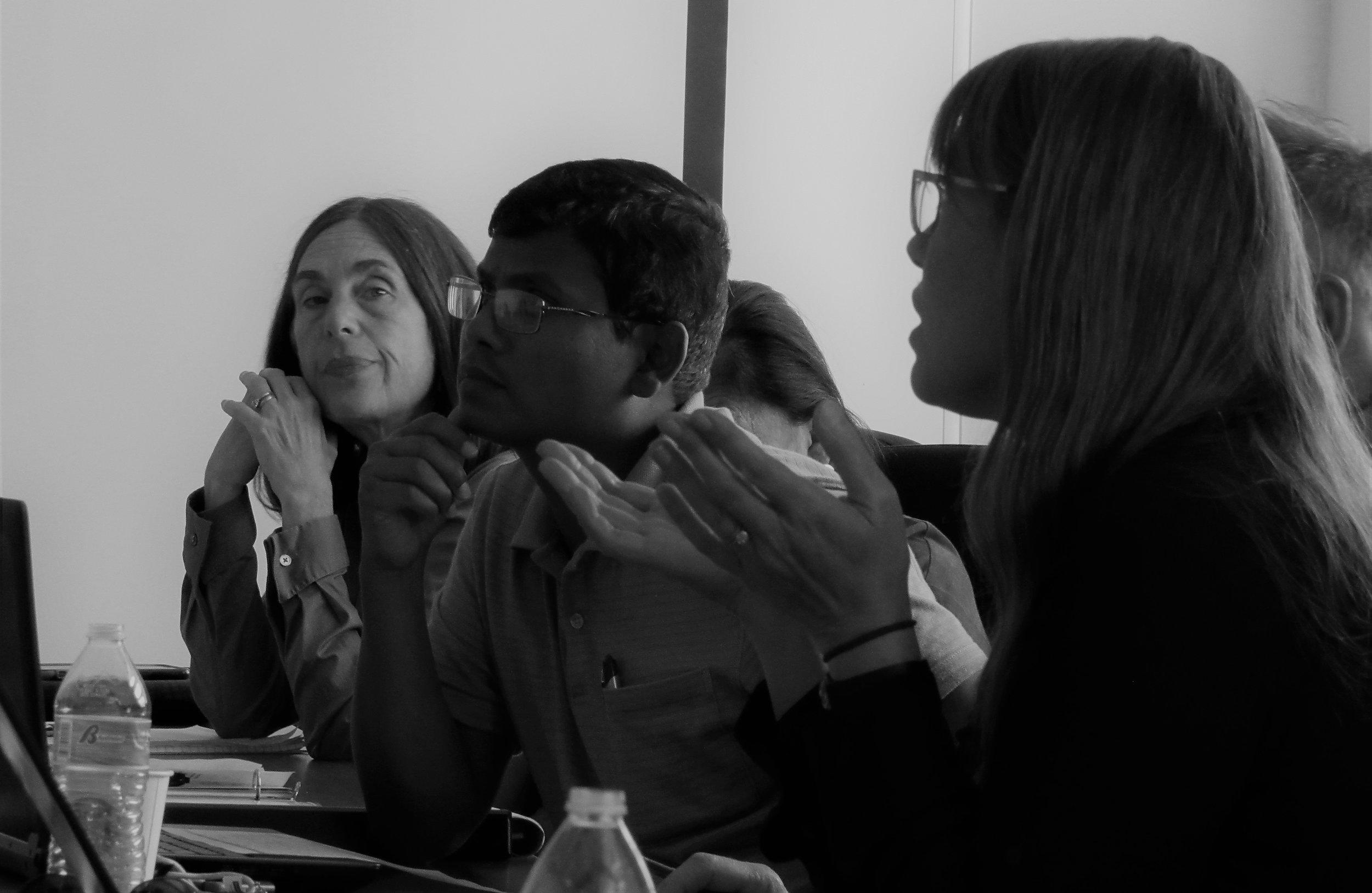 Agency - (From L to R) Jill Grant (NEPA Legal Counsel), Binod Chaudhary (NEPA Superfund), Freyja Knapp (USEPA Region IX, Remedial Project Manager).