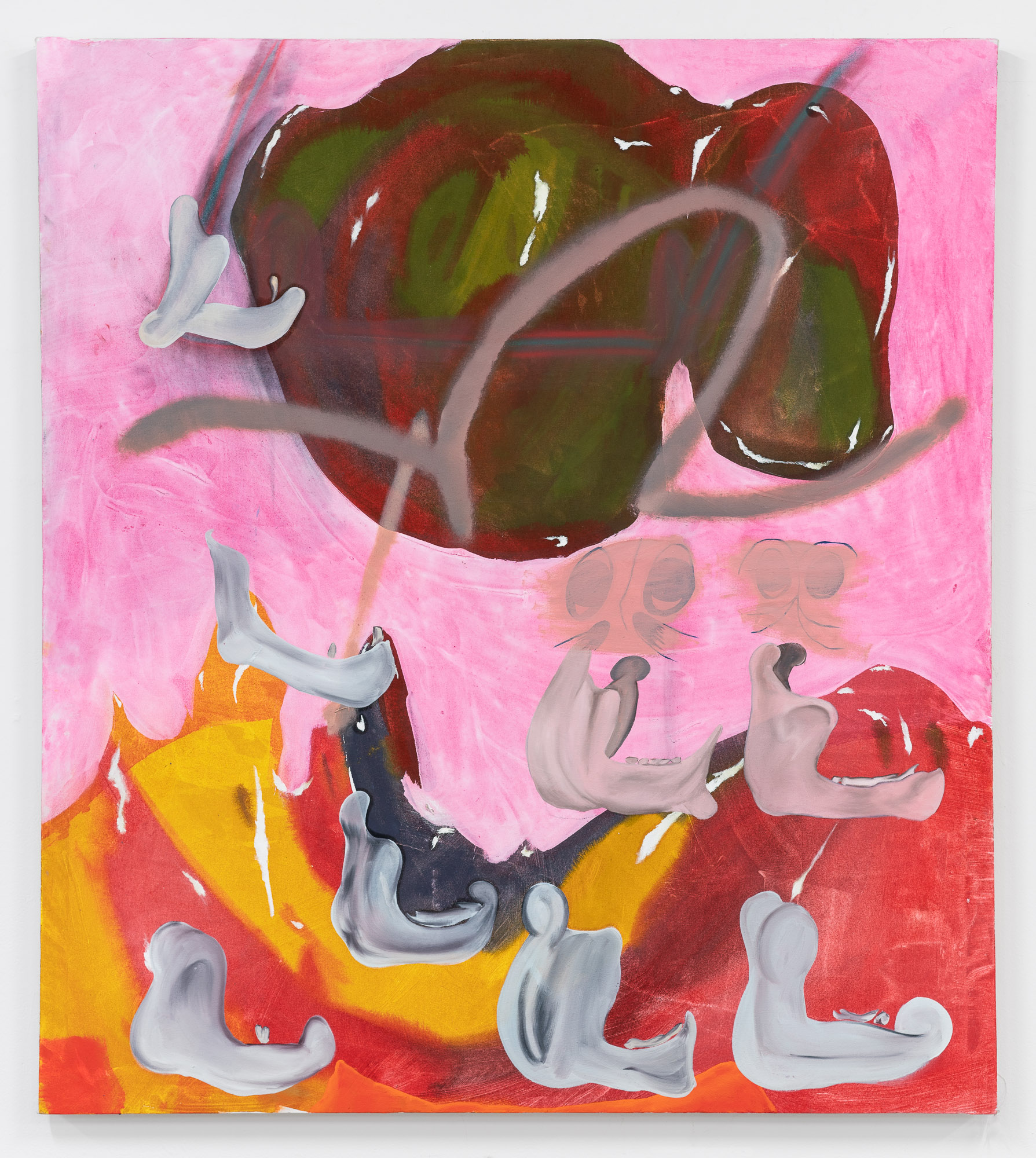 Jawbone of an Ass  oil on canvas  48 x 36 inches