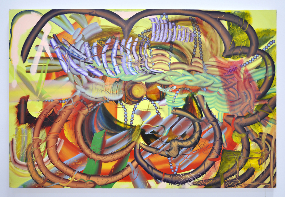 Braided to Irides, 2019  oil on canvas  48 x 72 inches