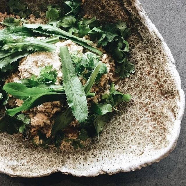 Still salivating over the @rhodavalepork and local crab larb made by the students of the @markbest cooking class last week #thecookingschoolnoosa @visitnoosa