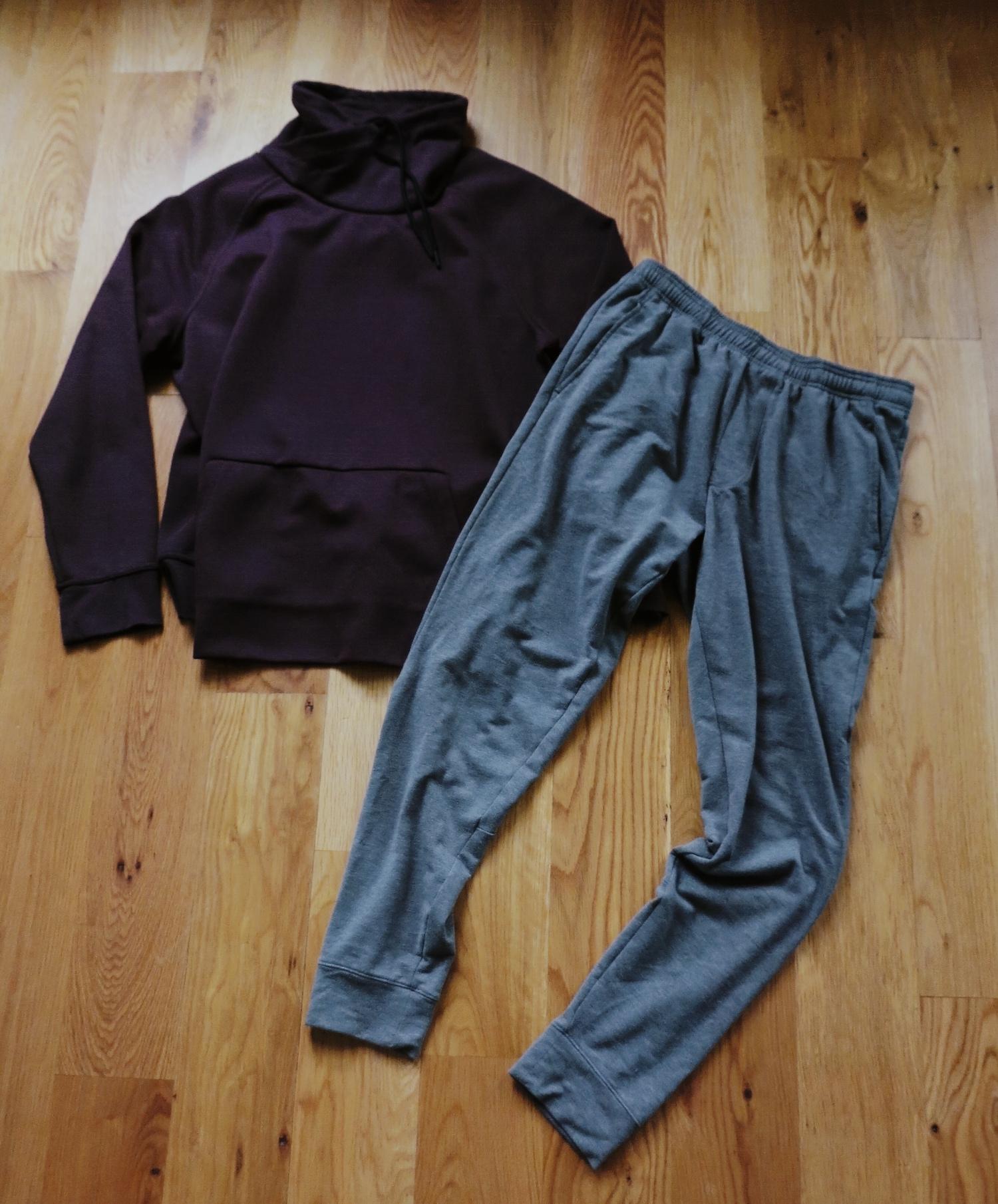 Jersey Chimney-Collar Shirt + Mack Weldon Ace Sweatpant