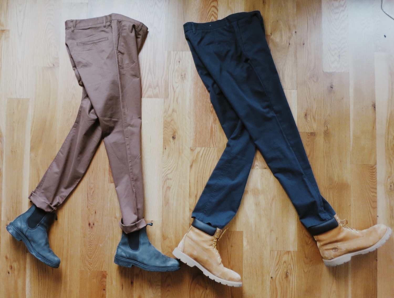 H&M Skinny Fit Chinos (Dark Beige)