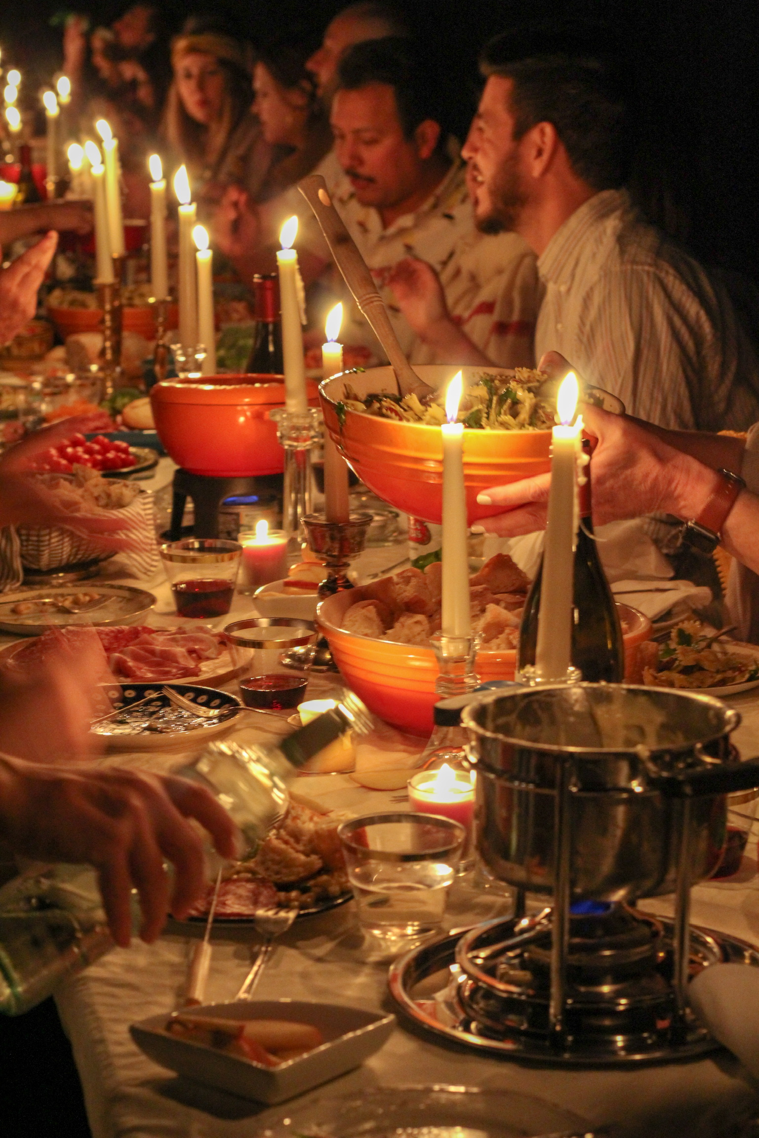 I Love That For You - Dinner Table Candles.JPG