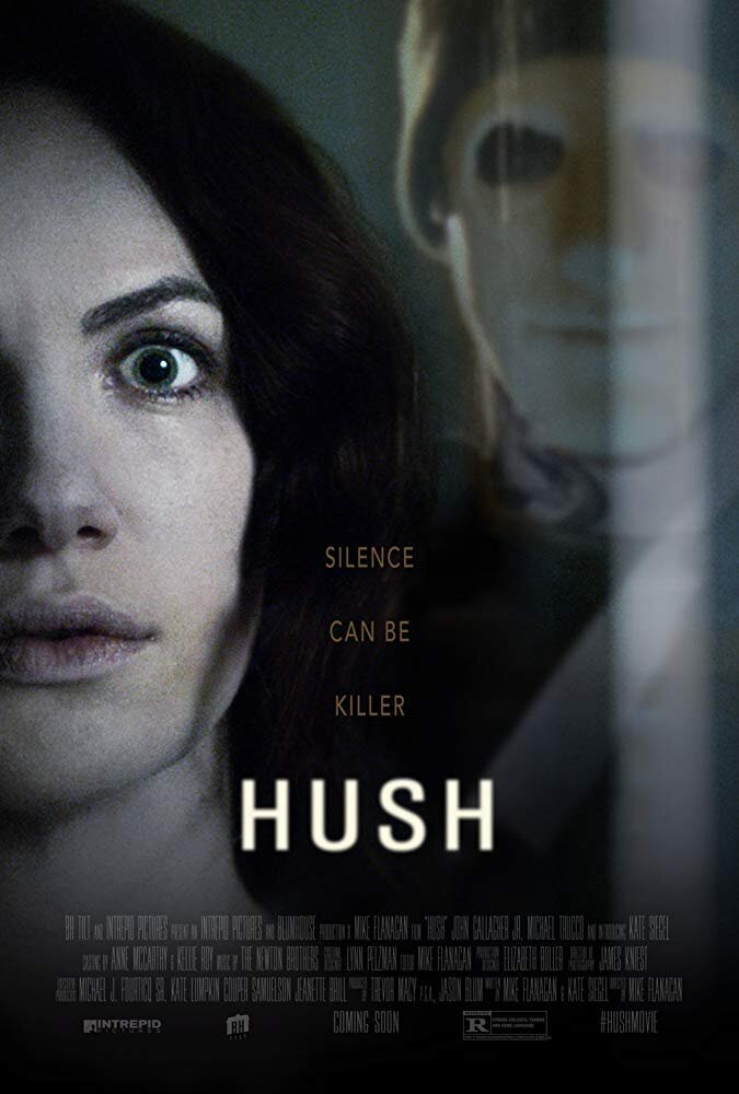 Hush - Genre: Horror, ThillerA deaf and mute writer who retreated into the woods to live a solitary life must fight for her life in silence when a masked killer appears at her window.Why We Love This Scare: This is a classic scary movie where you end up yelling at the TV hoping the main character will hear you and turn around.Watch on Netflix