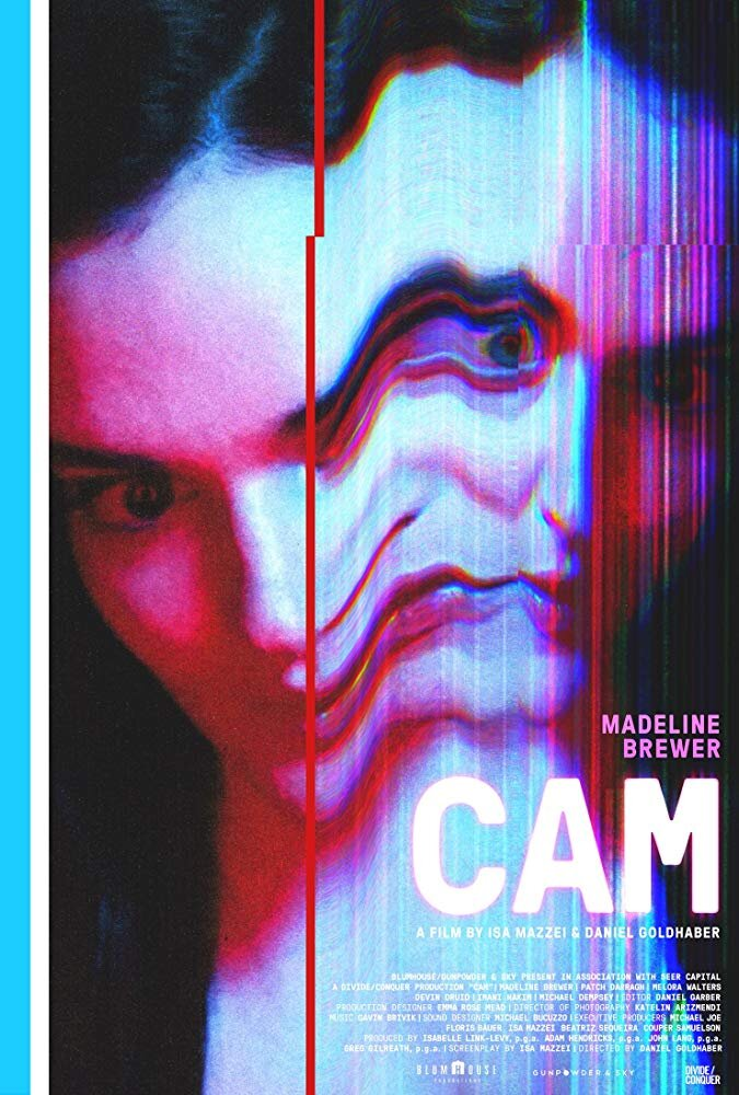 Cam - Genre: Horror, Mystery, ThrillerAfter a look-alike takes over her account, a cam girl with a growing fan base sets out to identify the mysterious culprit and reclaim her own identity.Why We Love This Scare: This movie will leave you on the edge-of-your-seat while showcasing a theme of social media gone awry and where the future of technology could lead.Watch on Netflix