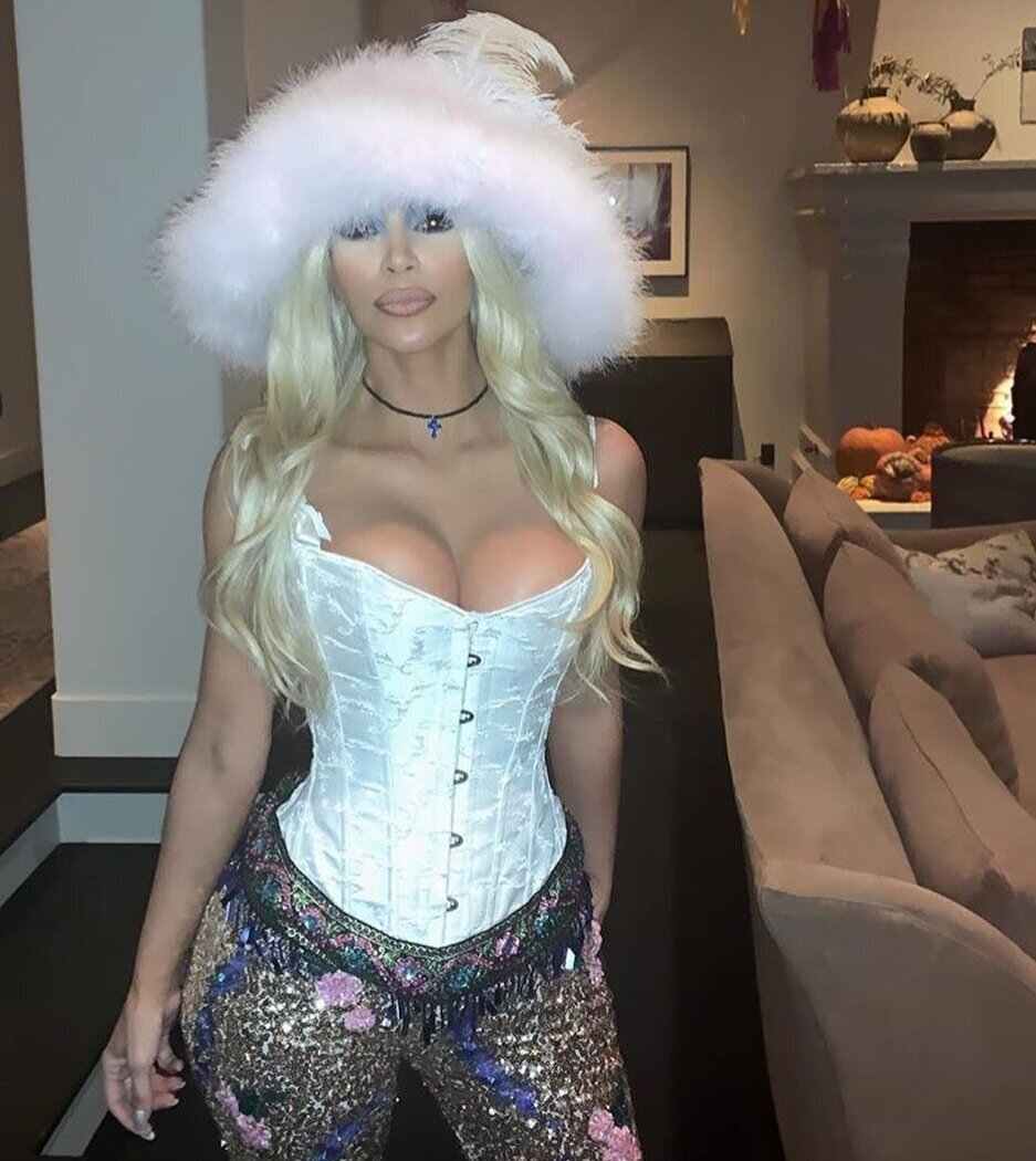 Kim Kardashian - Kim's throwback to Pamala Anderson's outfit at the 1999 Video Music Awards gave us life. Apparently Pamela was flattered too.Instagram