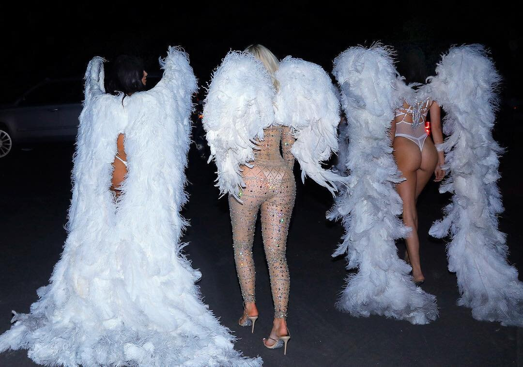 The Kardashian-Jenners - Honestly, we wish we could be as amazingly extra as these sisters and execute a full-blown production for a Halloween Instagram pic, let alone as the Victoria's Secret Angels.Instagram