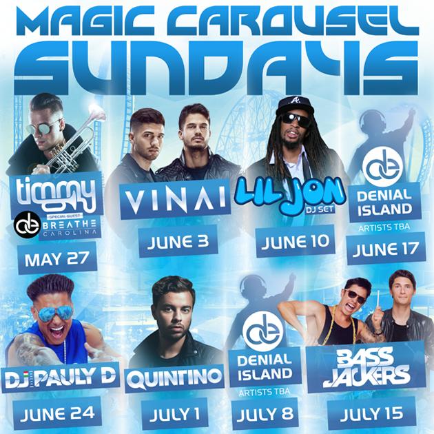 Magic Carousel Sundays   Various Flyers for Summer Event Coney Island, NY