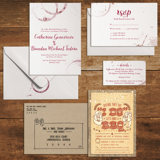 Mudd Wedding   Wedding Invitation Set