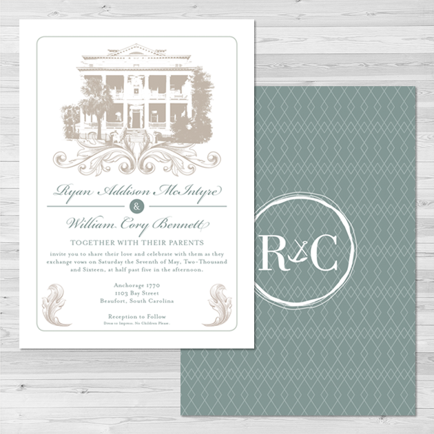 Bennett Wedding   Wedding Invitation Set