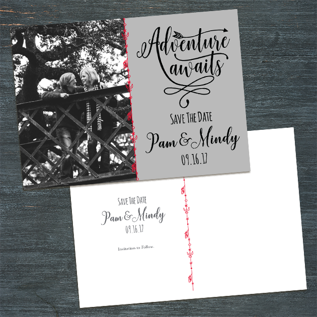 Pam & Mindy Wedding   Wedding Invitation Set